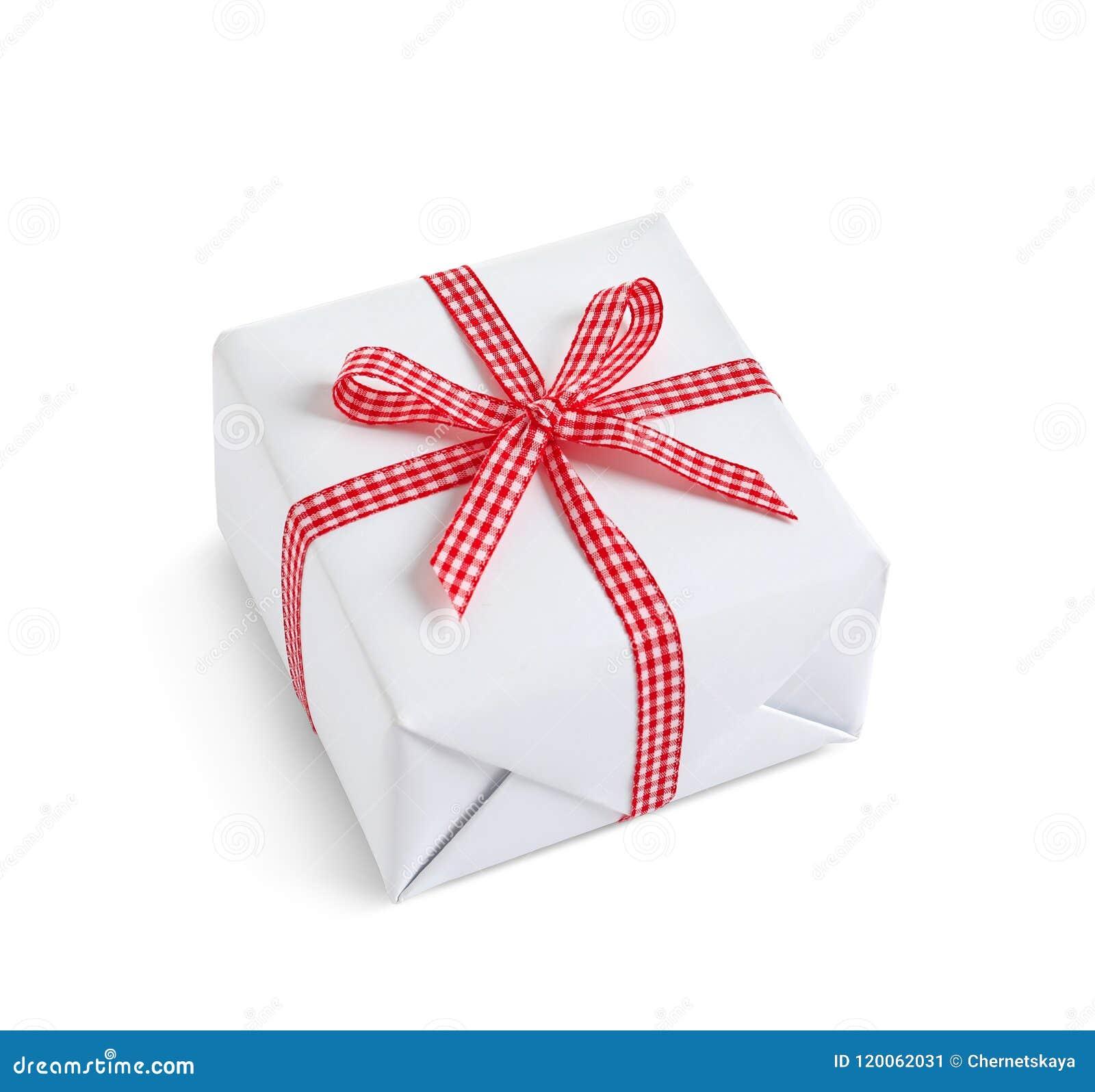 Pięknie zawijający prezenta pudełko