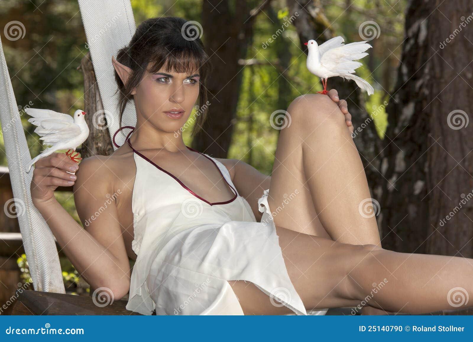 Piękno gołąbki elven