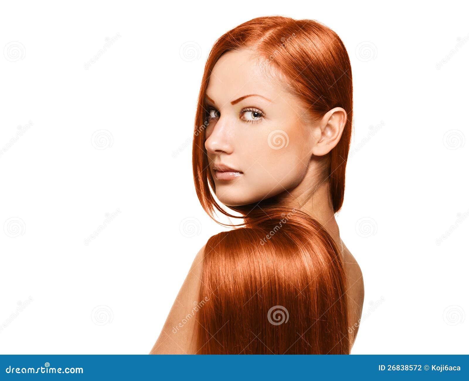 Piękno kobieta. długie włosy