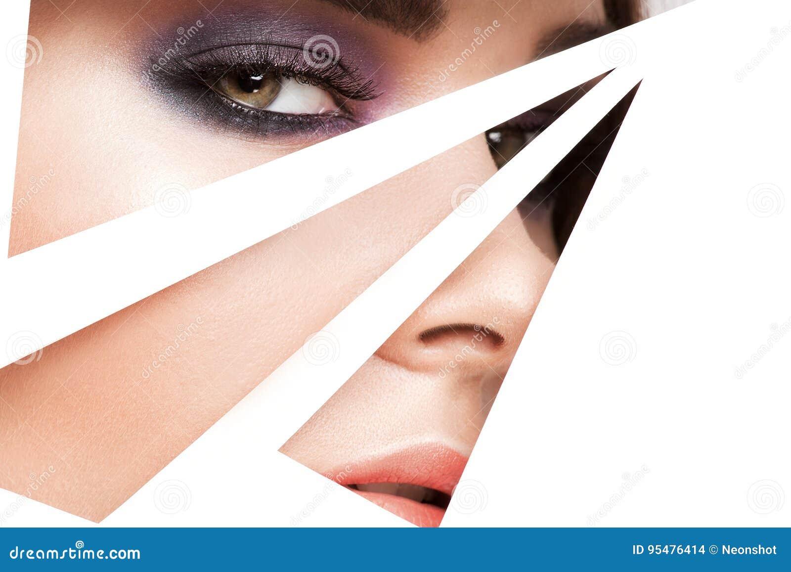 Piękno portret młoda dziewczyna z makeup
