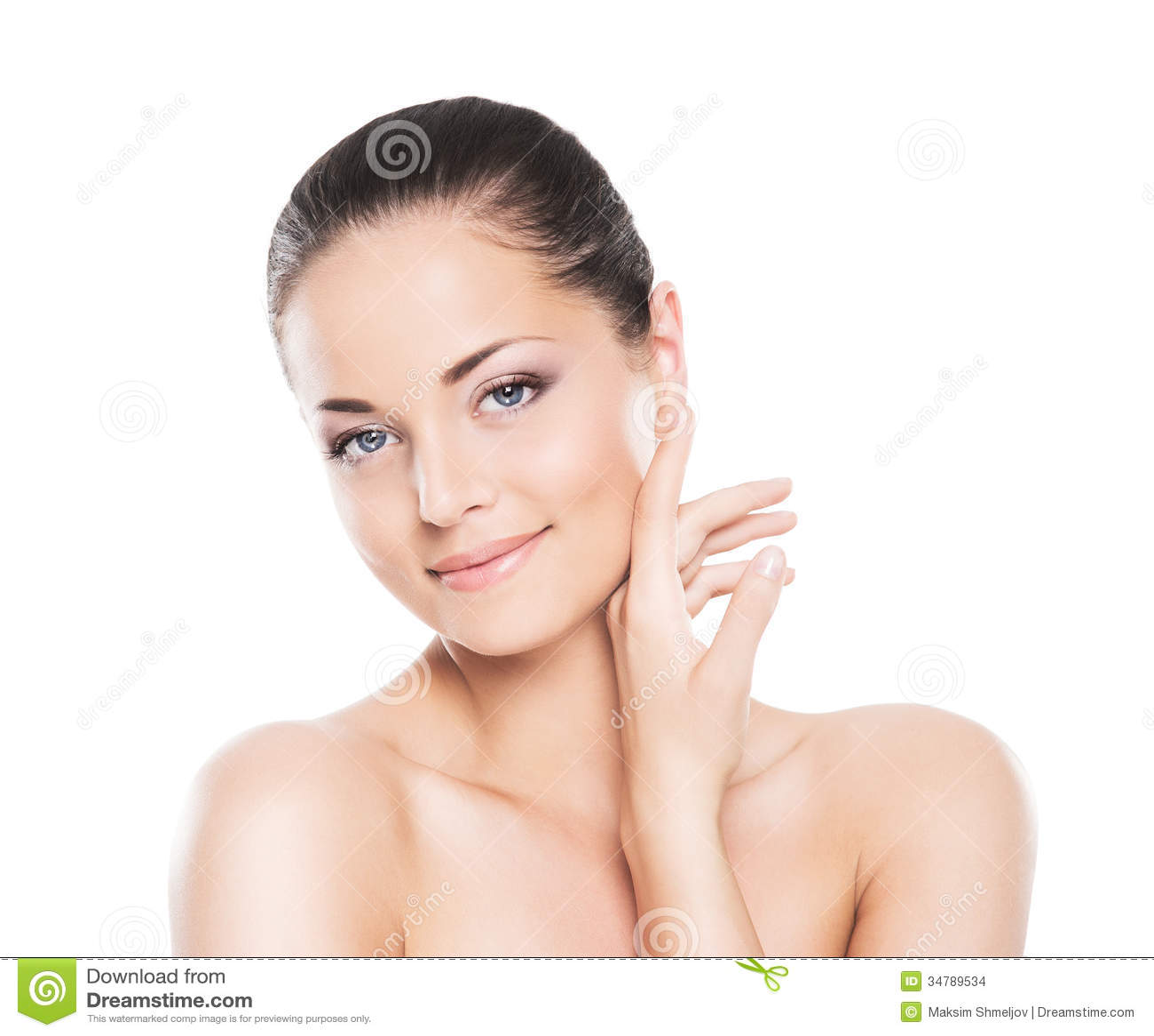 Piękno portret młoda i atrakcyjna kobieta w makeup