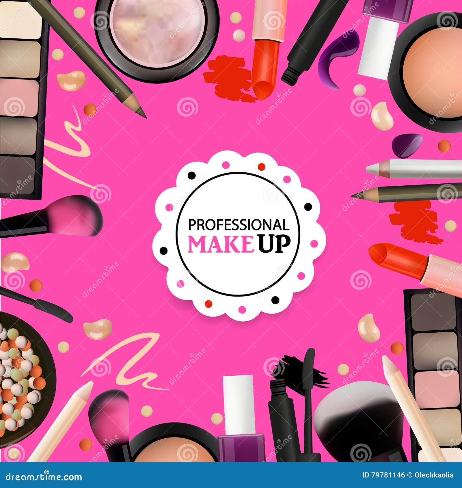 Piękno Uzupełniał projekt dla salonu, kursy, MakeUp artyści Kosmetyczni produkty, profesjonalista Uzupełniali, opieka Printable s