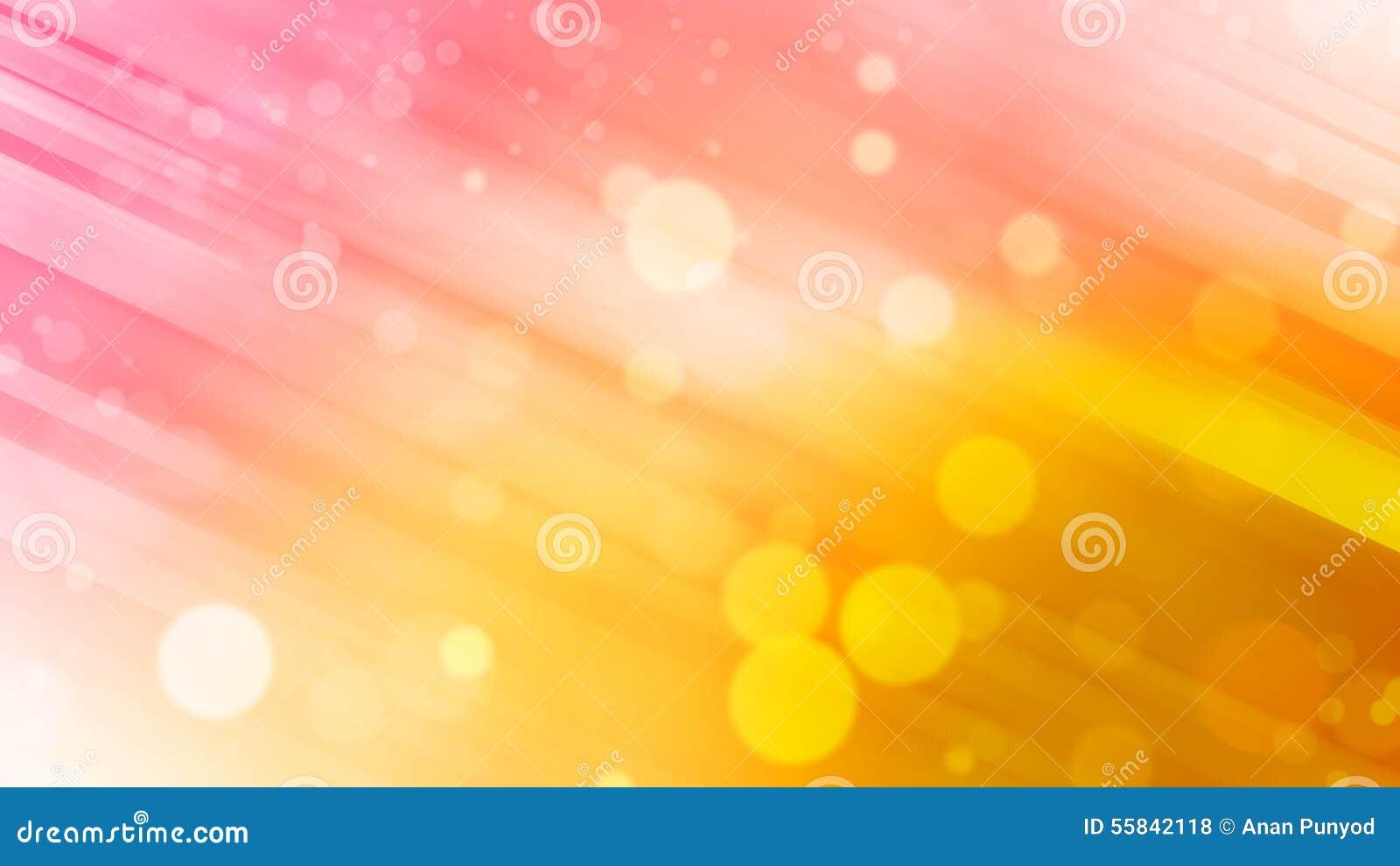 Piękny Abstrakcjonistyczny tło, menchie, żółty brzmienie i bokeh, zaświecamy