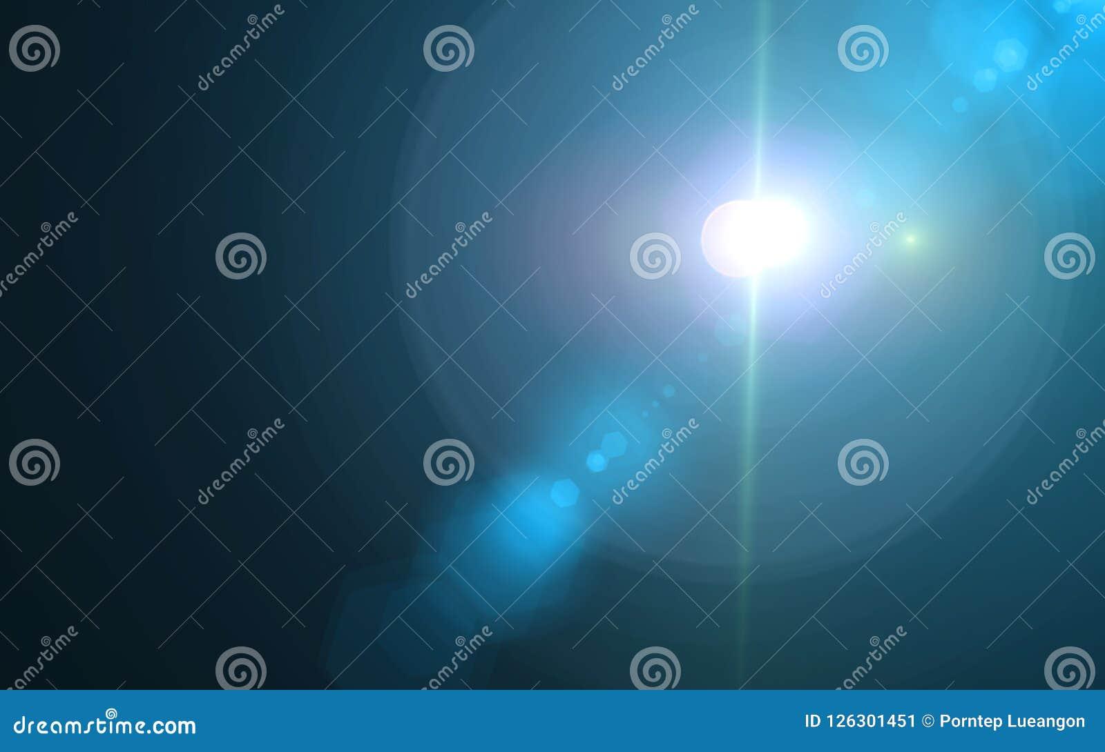 Piękny błękitny cyfrowy obiektywu raca w czarnym tle
