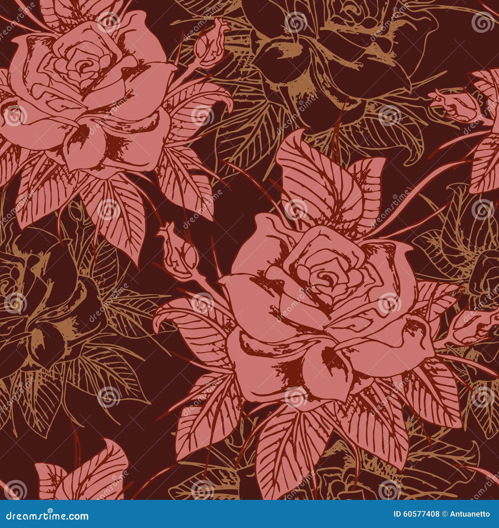 Piękny bezszwowy kwiecisty wzór, kwiatu wektor