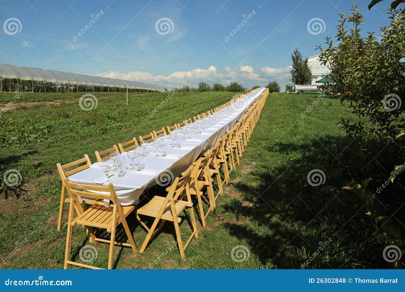 Piękny formalny stół