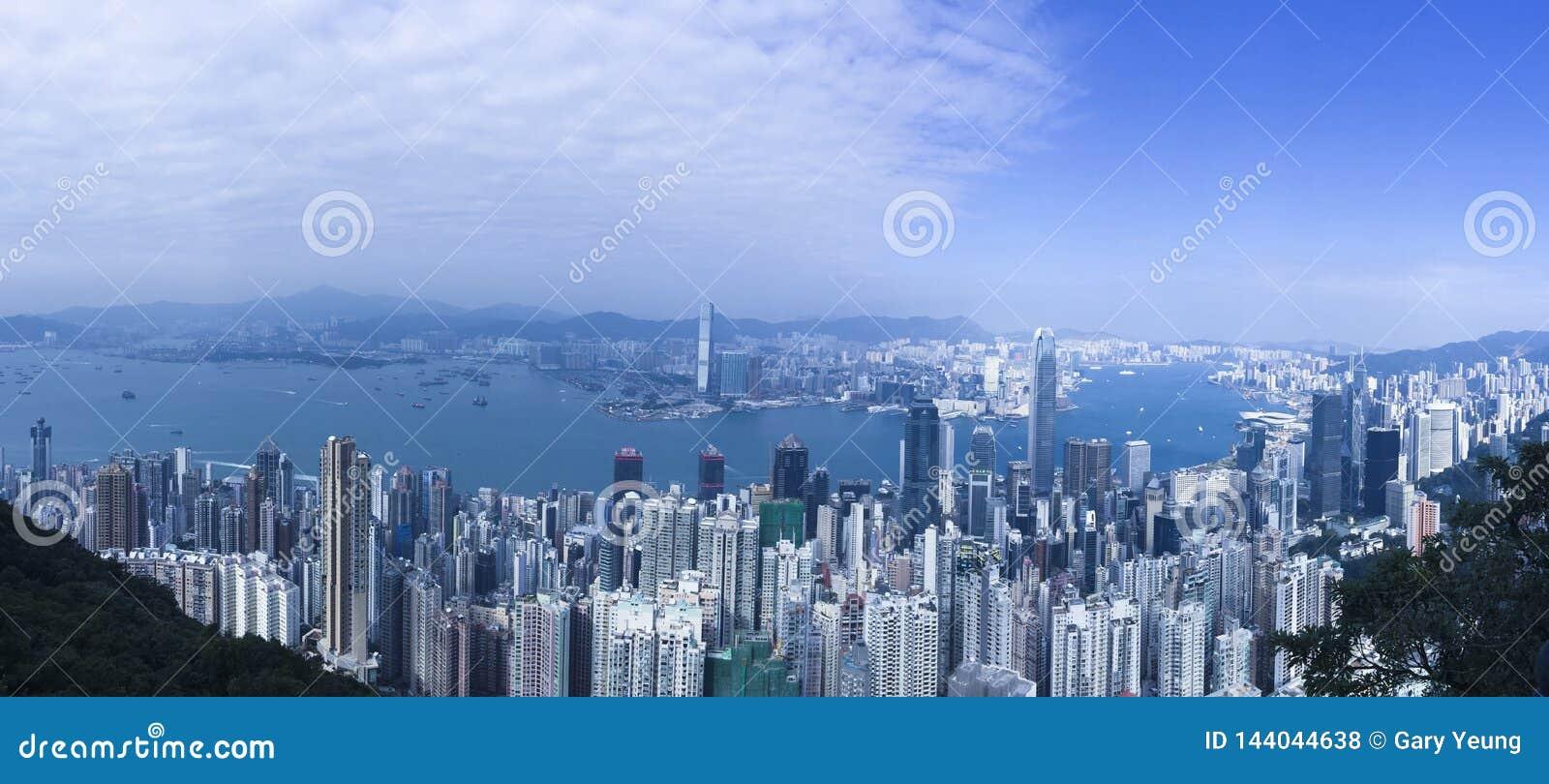 Piękny Hong Kong Panoramiczny