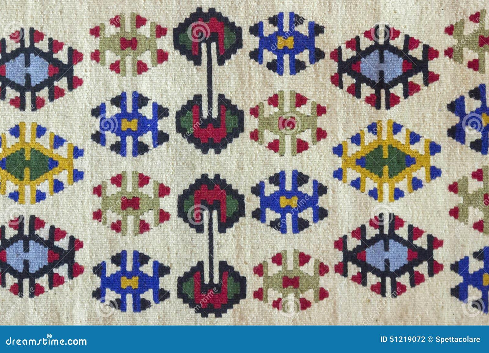 Piękny i wielo- coloured Pirot kilim