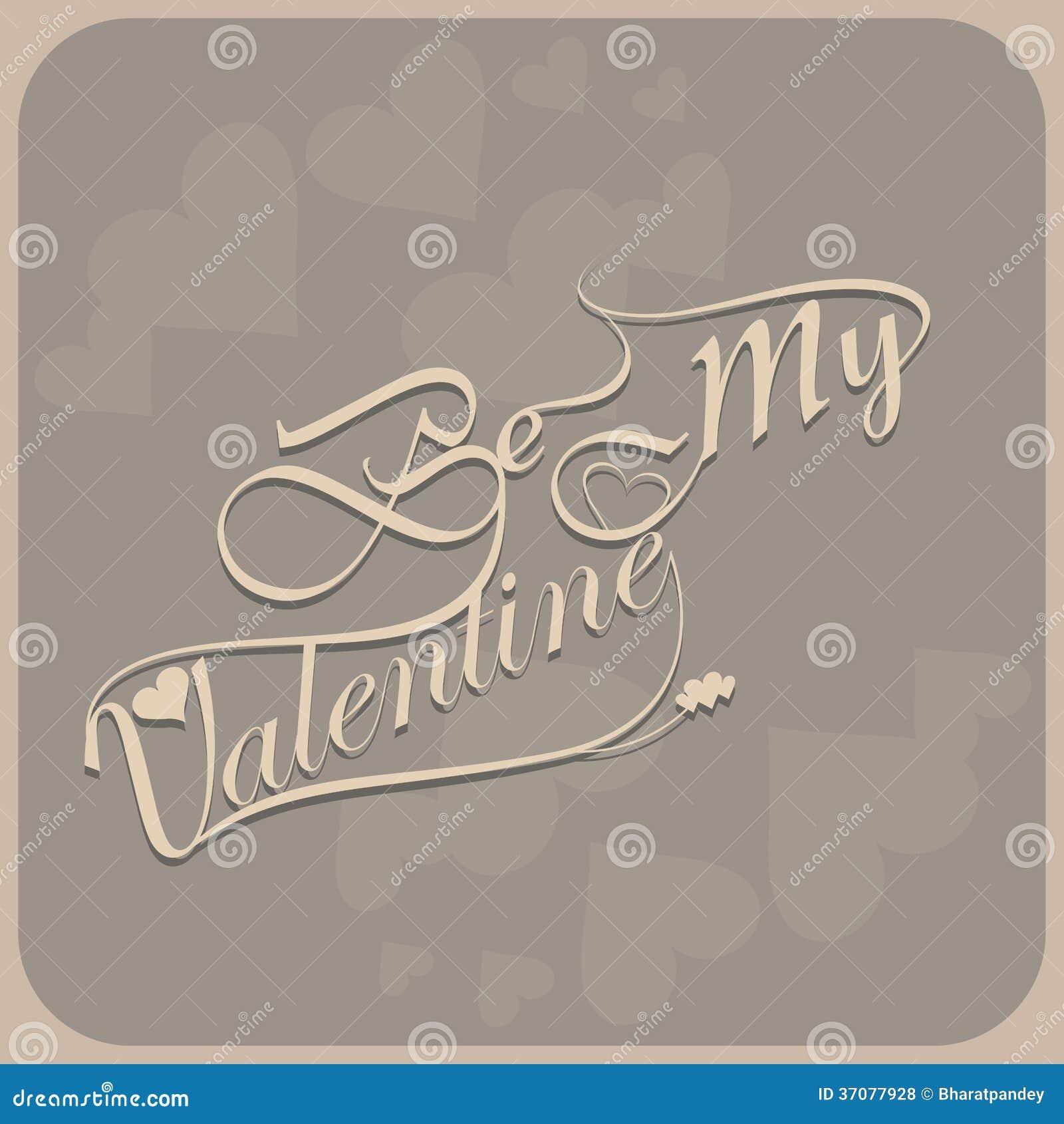 Download Piękny Jest Mój Valentine Dnia Kaligrafią Kolorowym Ilustracji - Ilustracja złożonej z gratulacje, dekoruje: 37077928