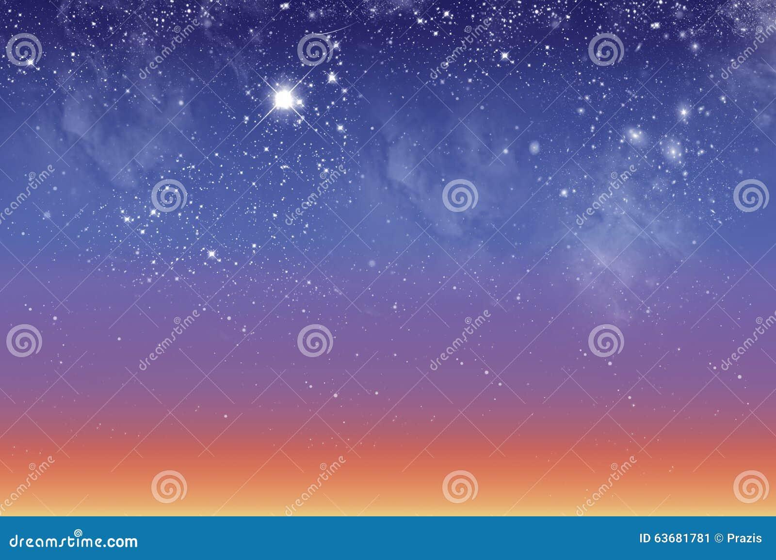 Piękny jutrzenkowy niebo