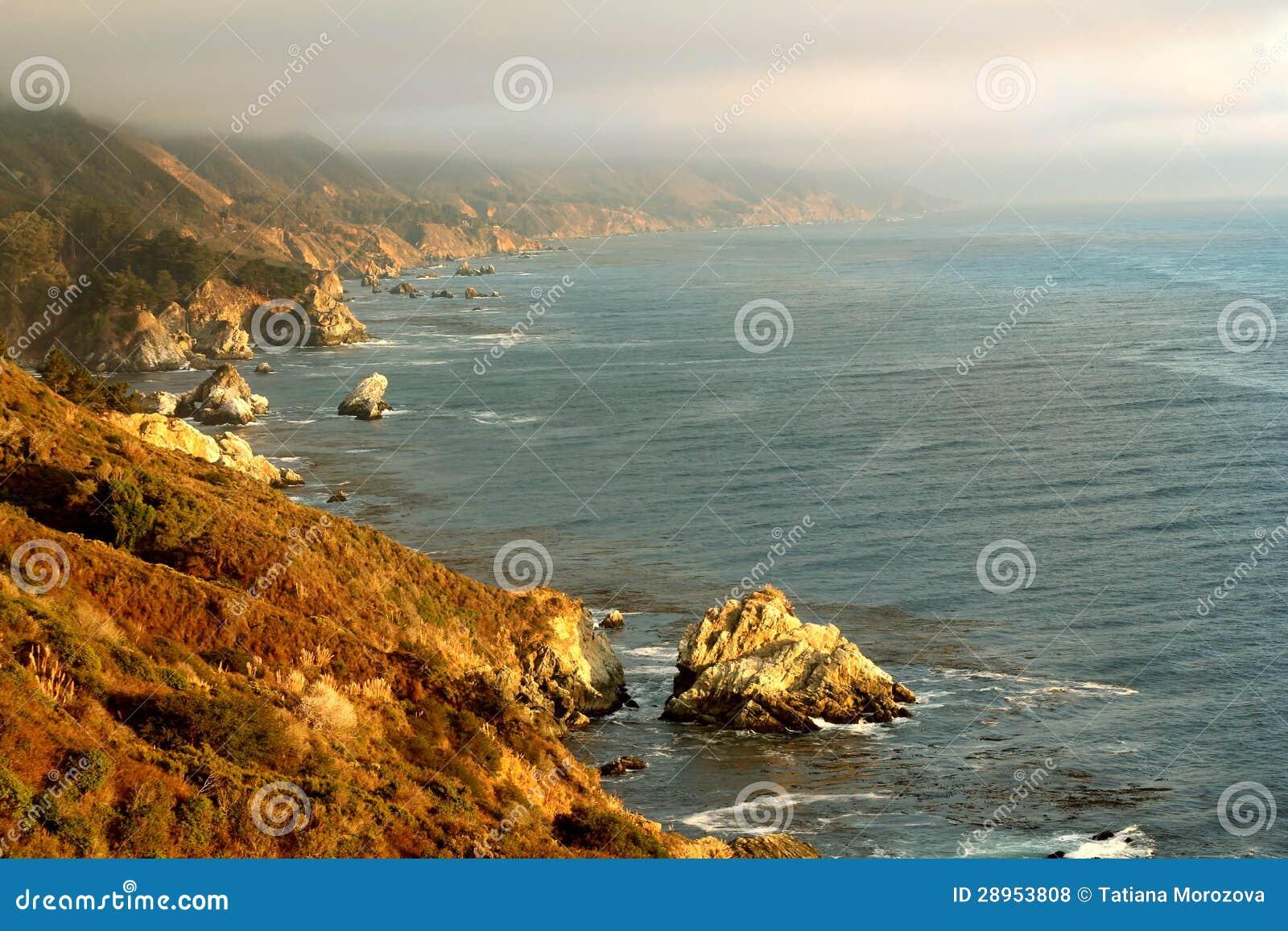 Piękny Kalifornia wybrzeże