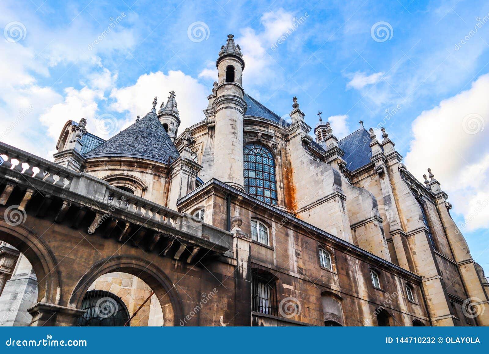 Piękny kościół w historycznym centrum Paryski Francja