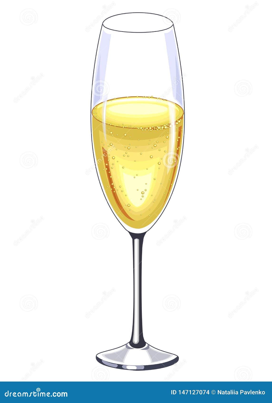 Piękny krystaliczny szkło szampański wino Dekoracja ?wi?teczny st?? r?wnie? zwr?ci? corel ilustracji wektora
