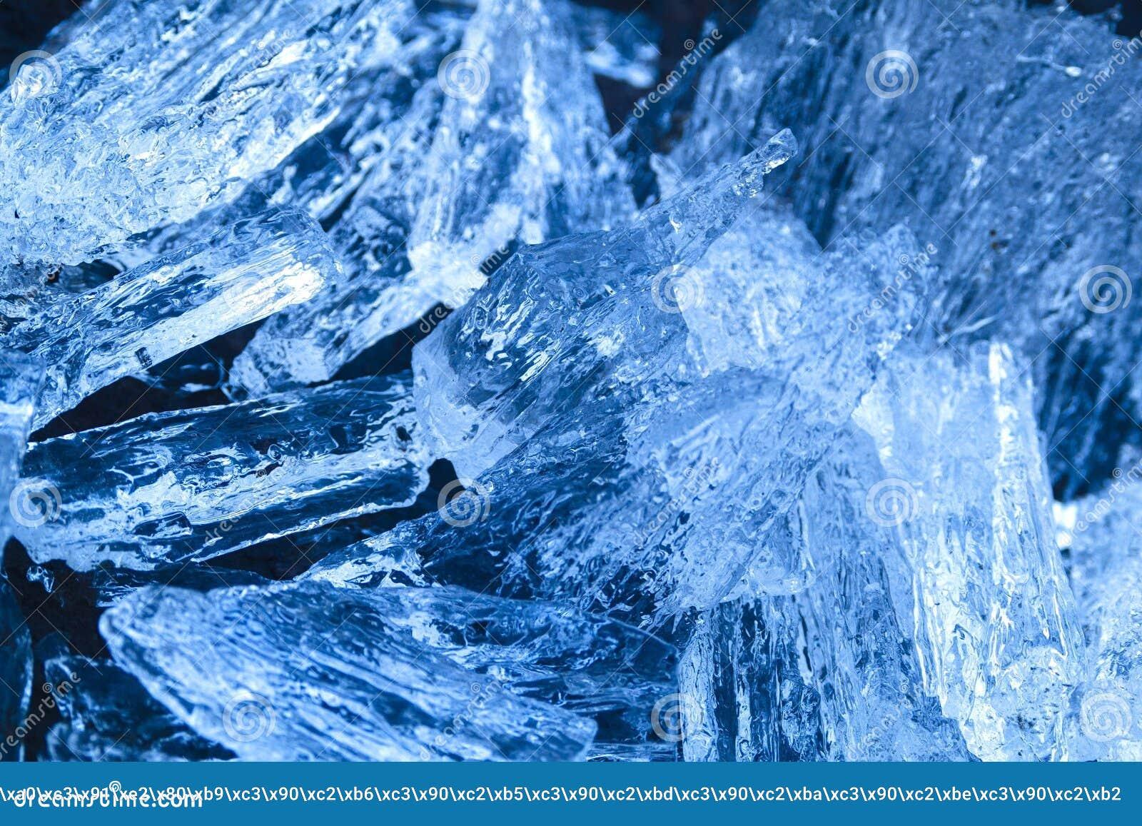 Piękny lód od rzek spojrzeń jak cenny kryształ