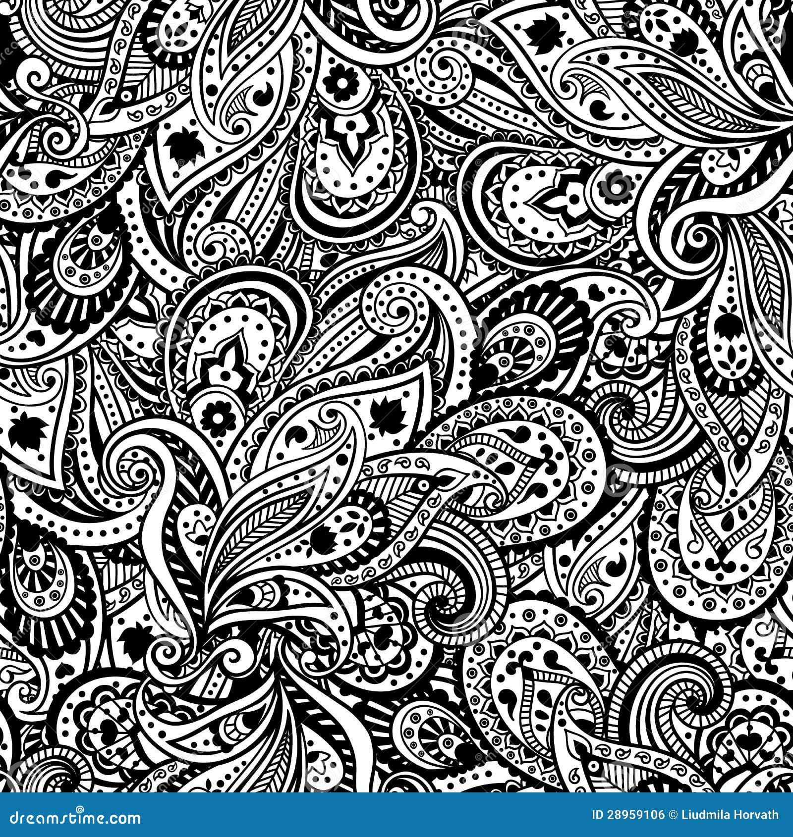 Piękny Paisley wzór