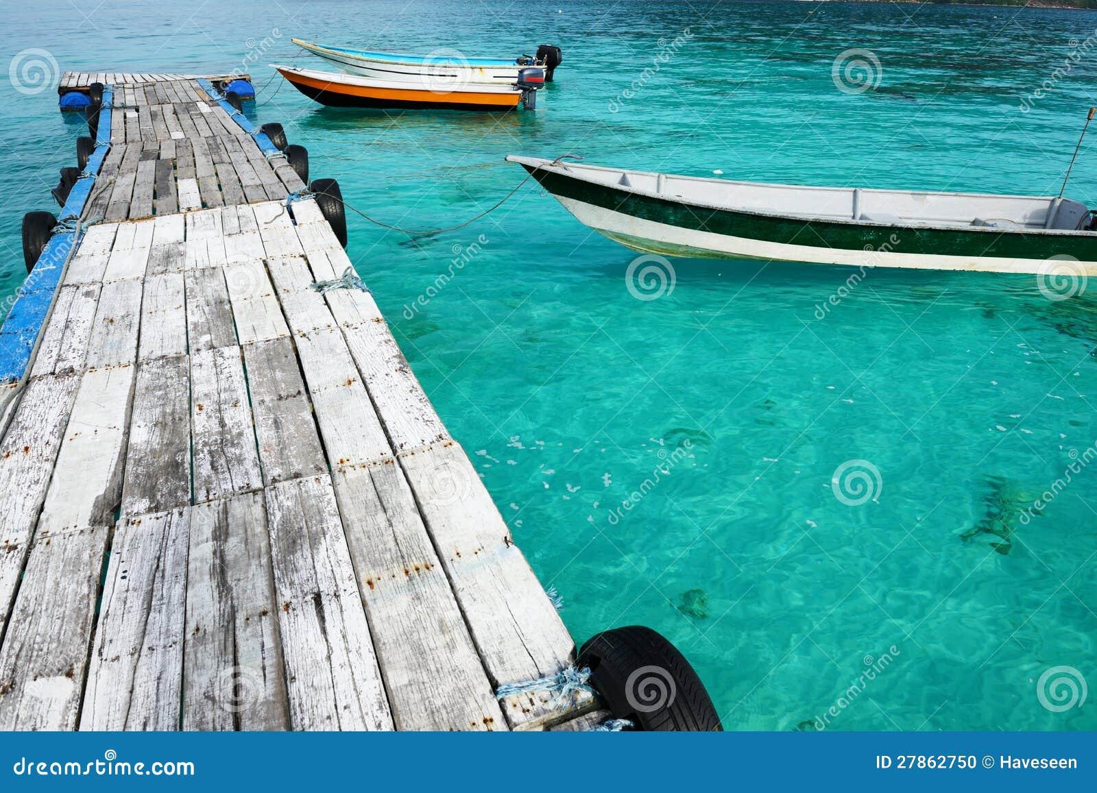 Piękny plażowy jetty
