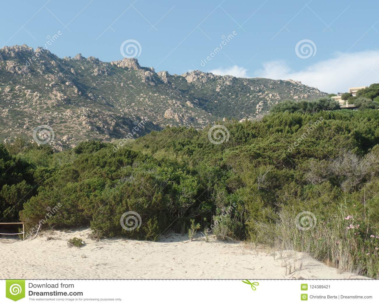 Piękny Sardyński krajobraz na słonecznym dniu