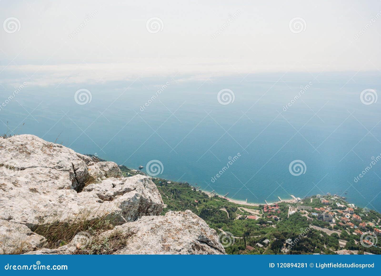 Piękny sceniczny widok góry w Ukraina, Crimea,