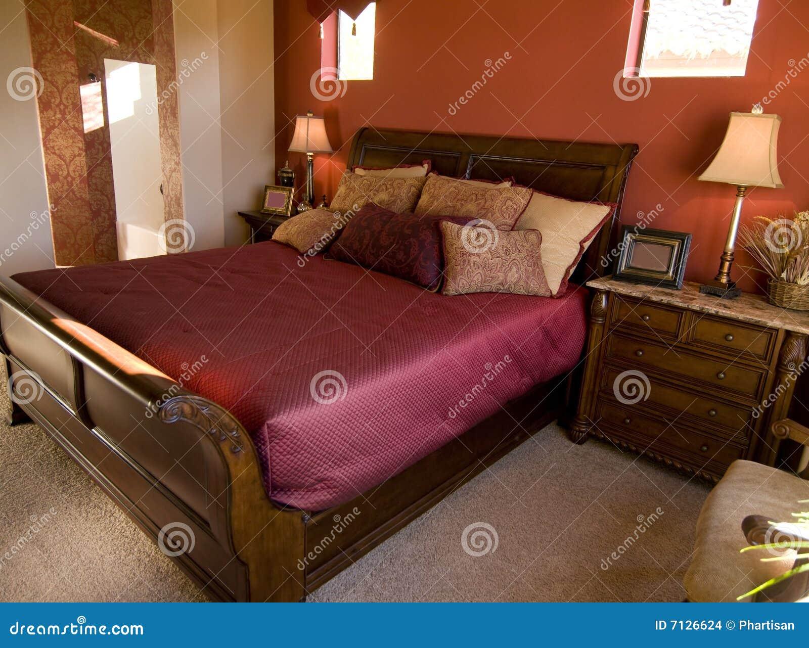 Piękny sypialni projekta wnętrze