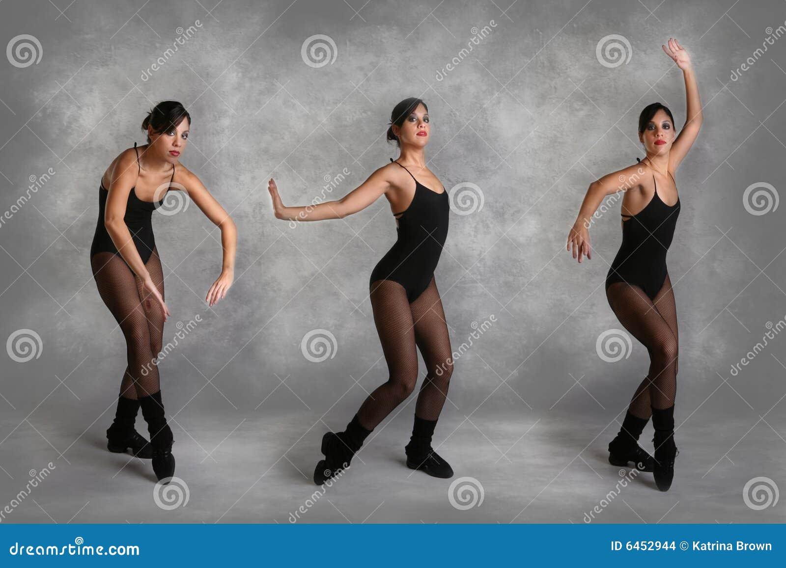 Piękny tancerkę nowoczesnych różnych pozycji
