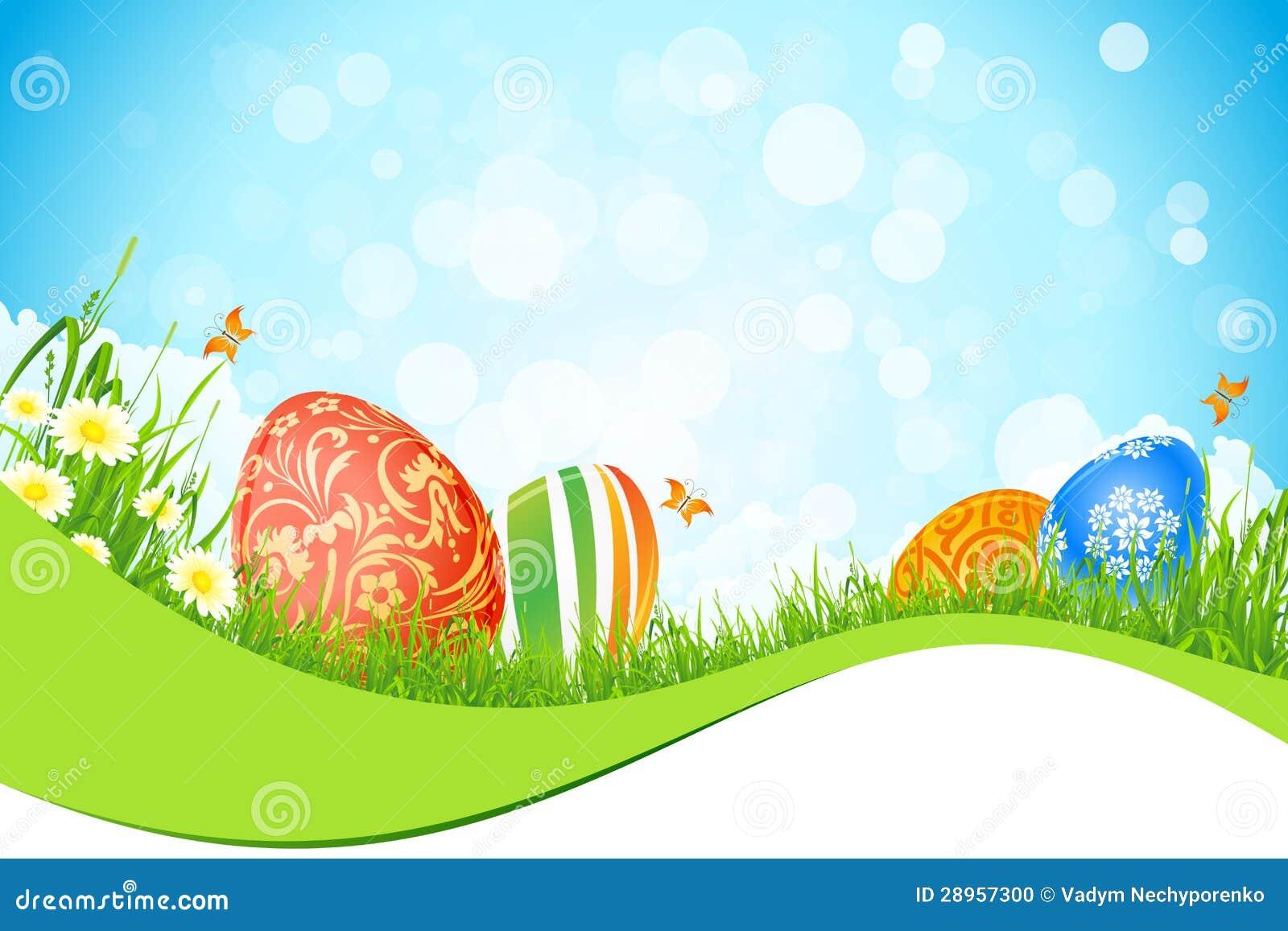 Piękny Wielkanocny Wakacyjny tło