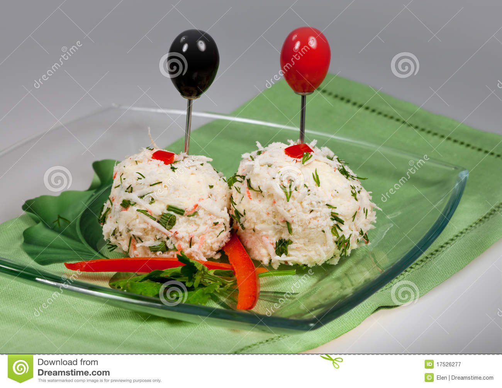 Piłek sera kraby