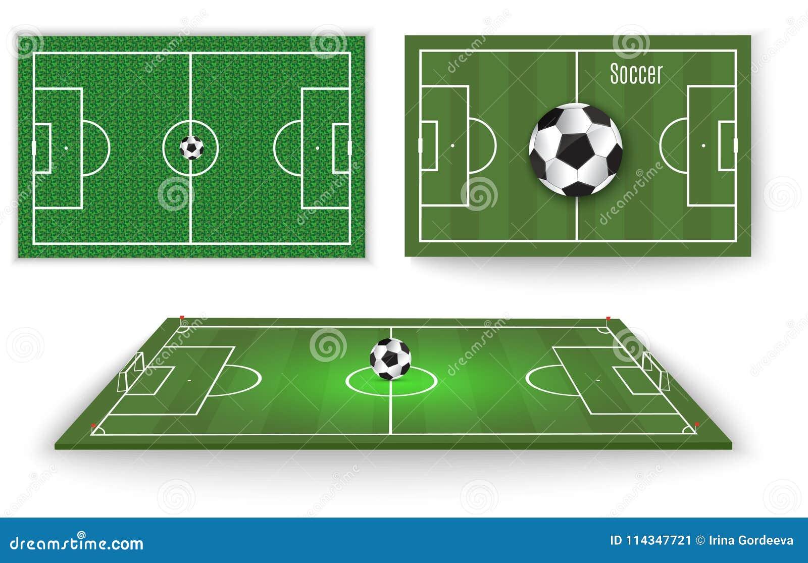 Piłka kłama na trawie Futbolowy dopasowanie również zwrócić corel ilustracji wektora Zielona trawa i Piłka nożna liga ulotka