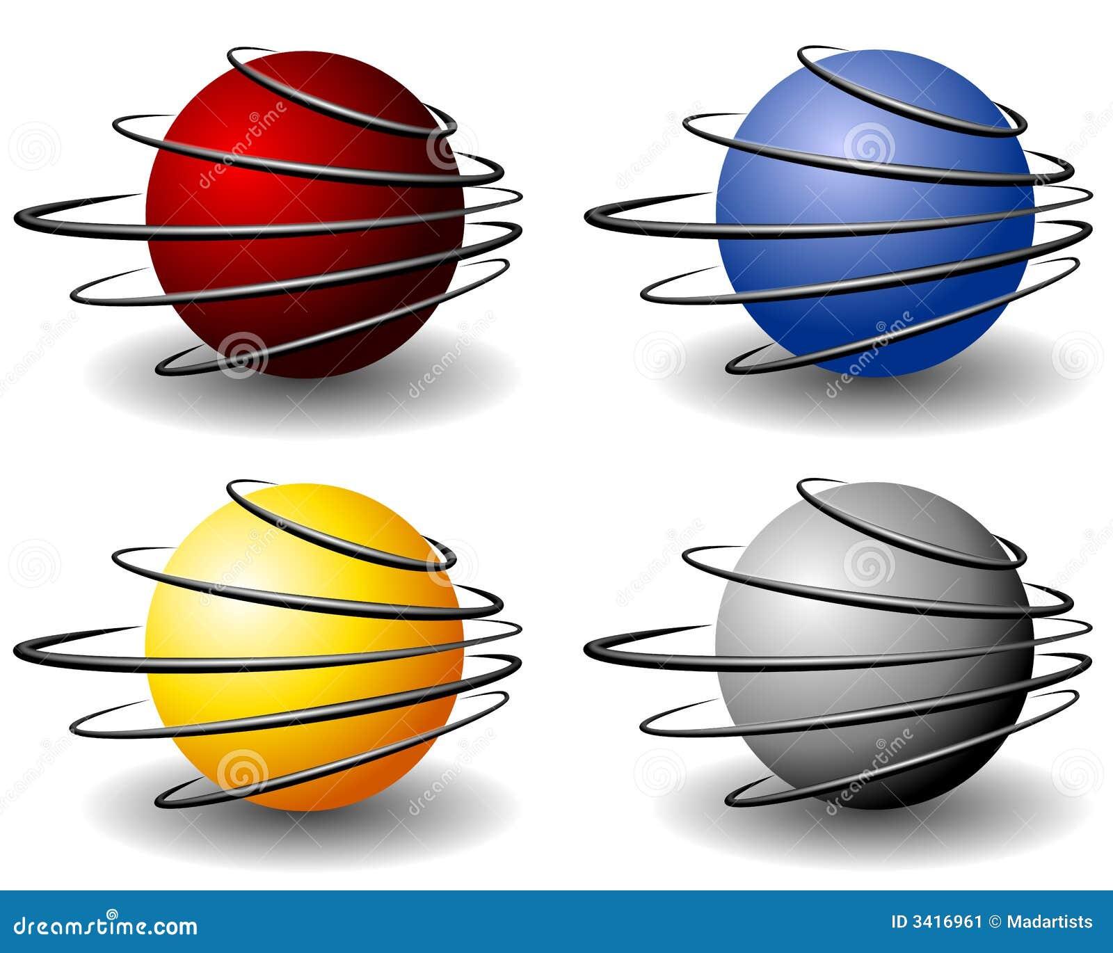 Piłka logo unikalny przewód kuli