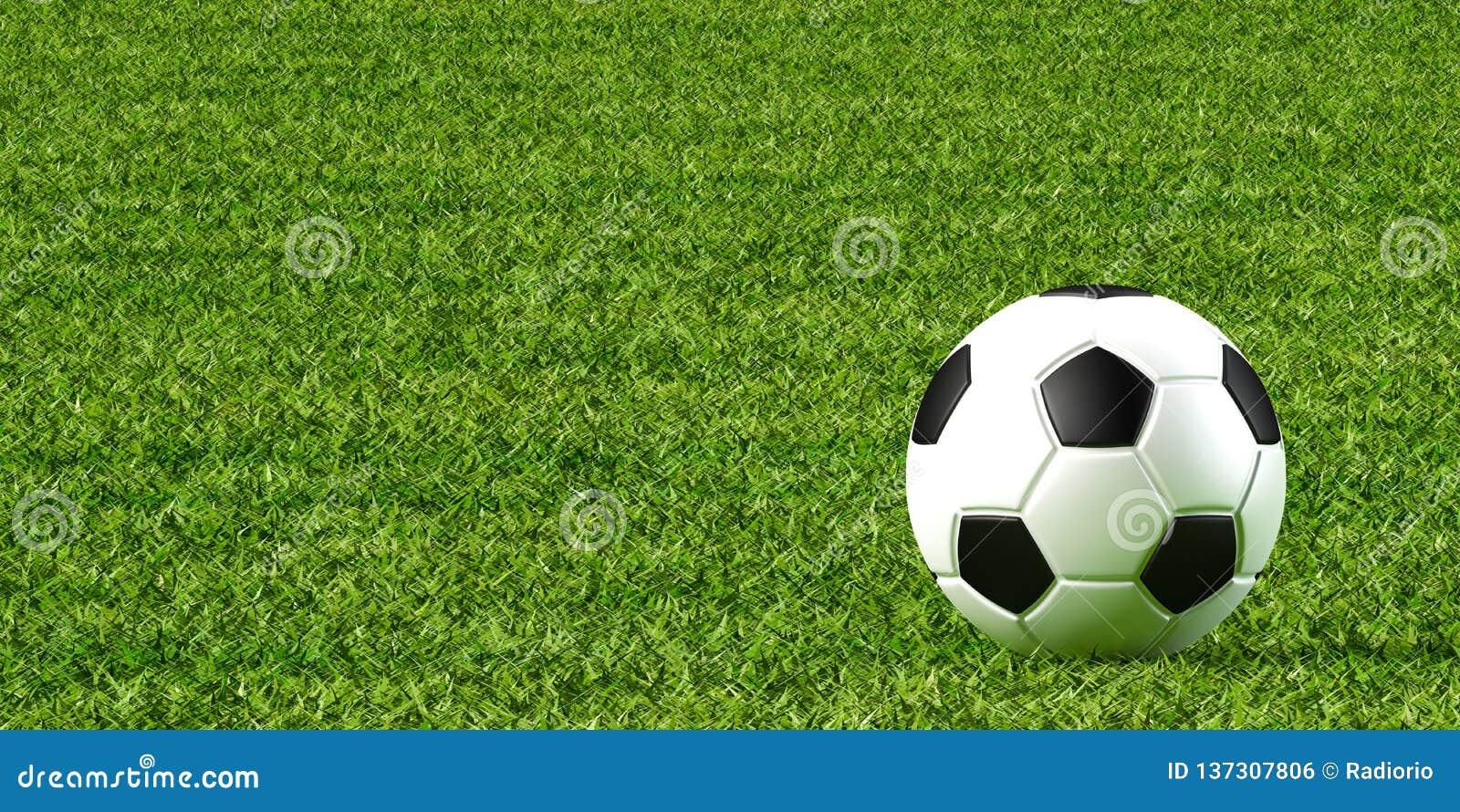 Piłka nożna gazon i piłka