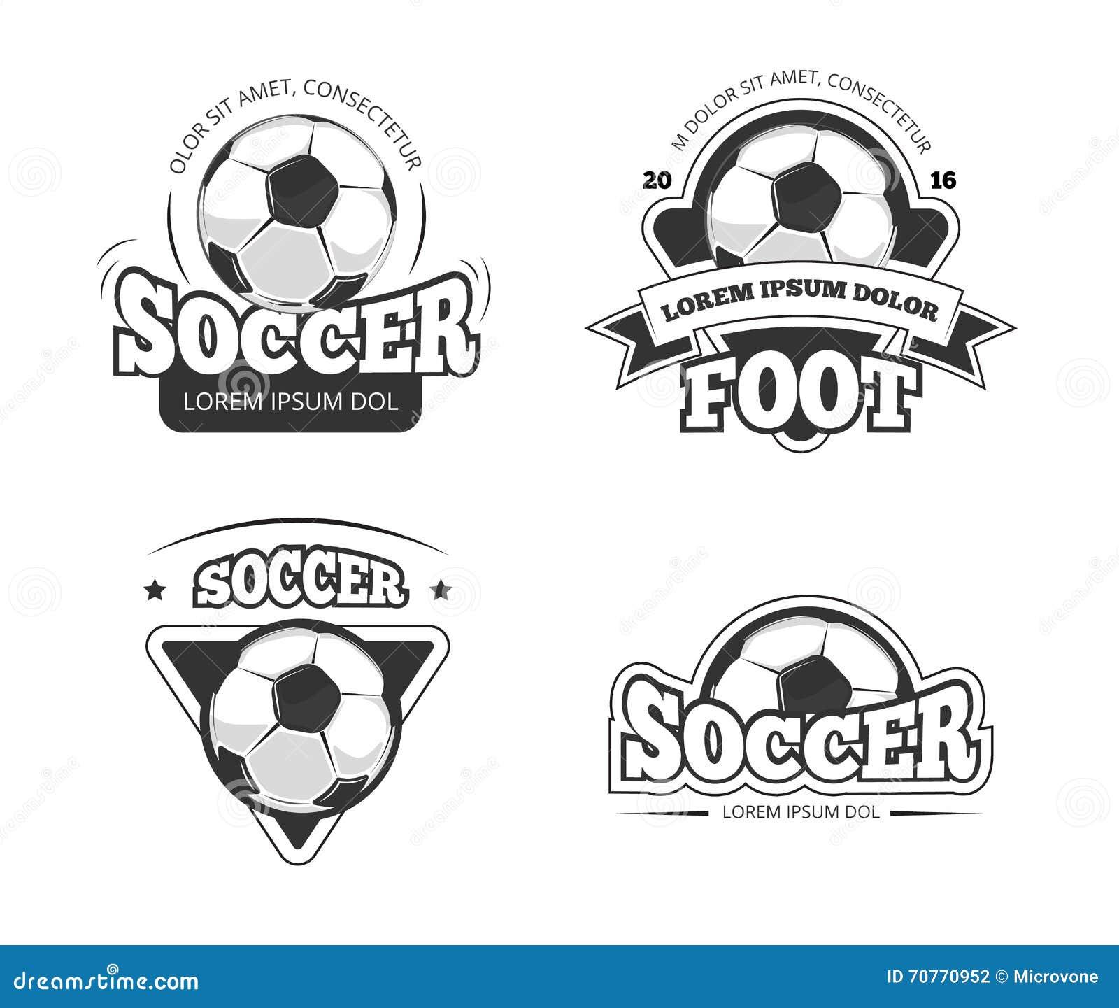 Piłka nożna liga klubu wektorowe odznaki, etykietki