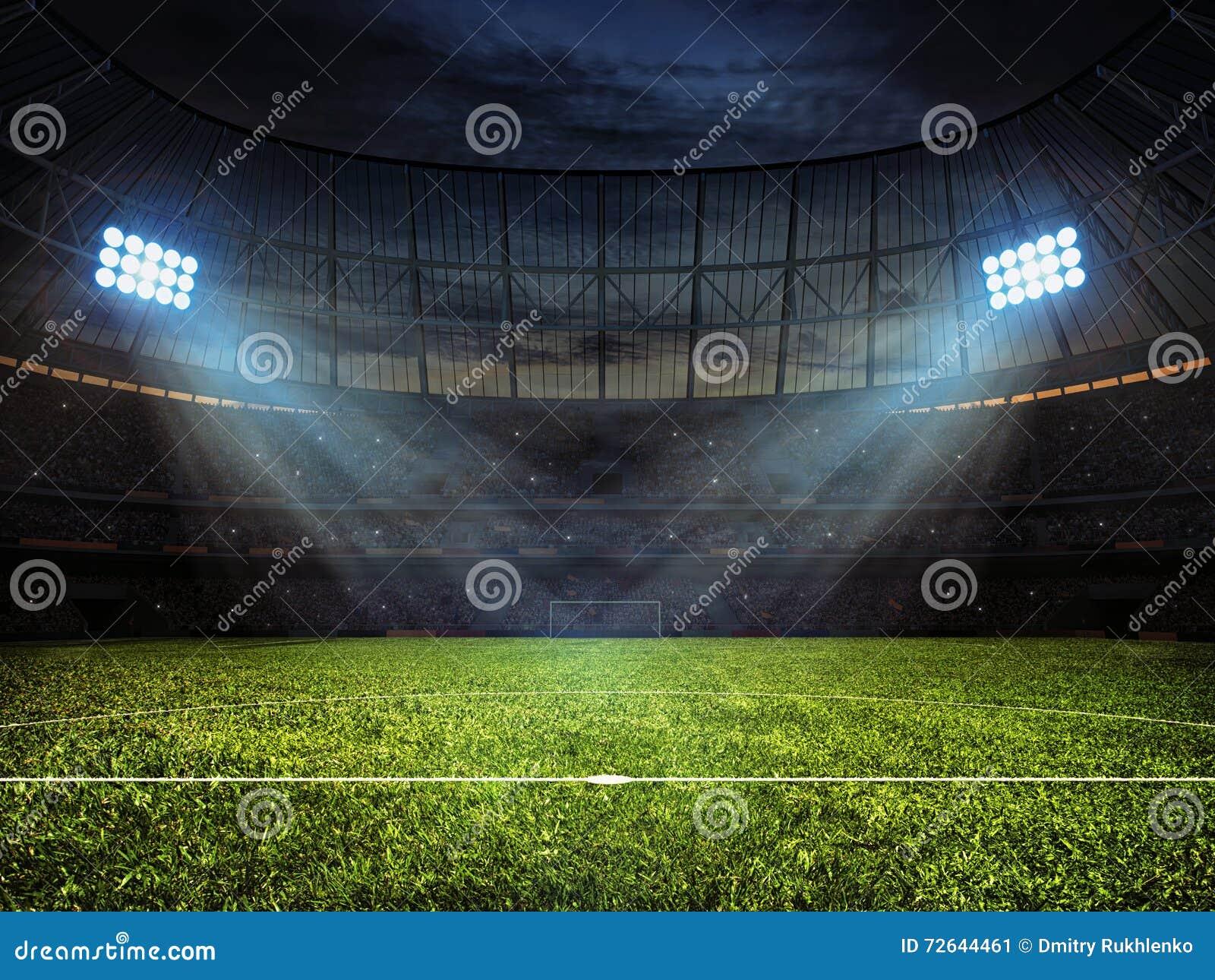 Piłka nożna stadion futbolowy z floodlights