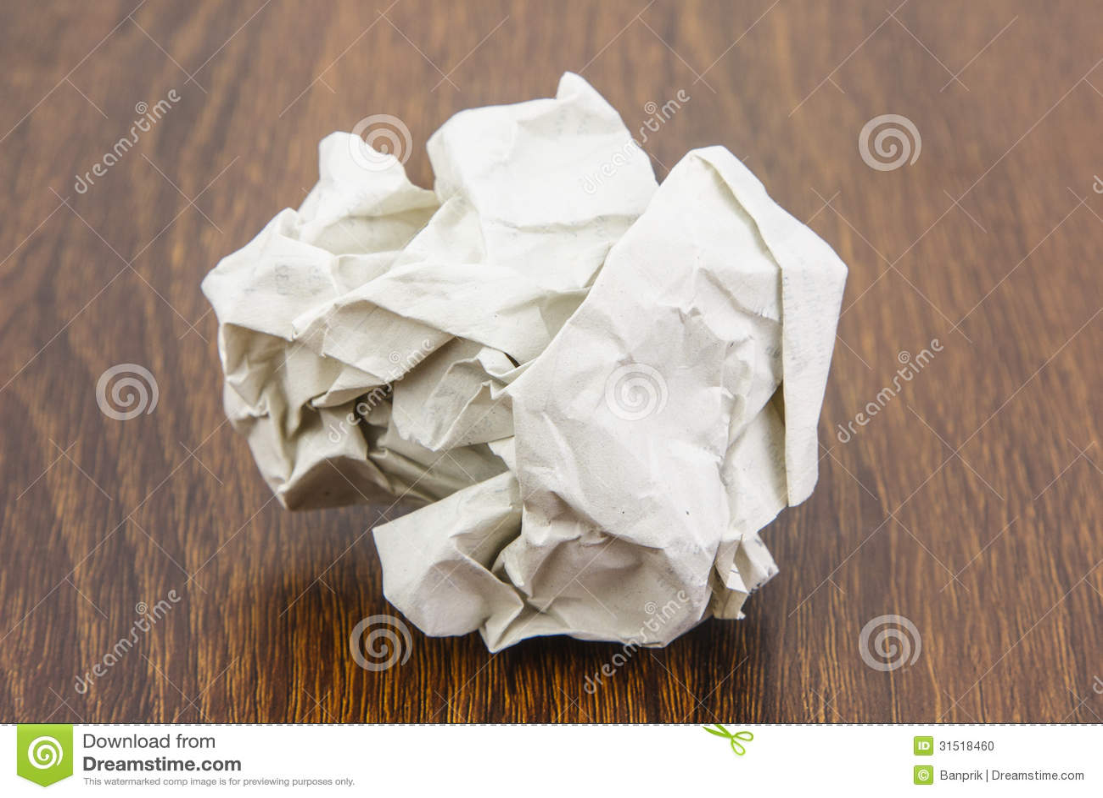 Piłka papieru prześcieradło