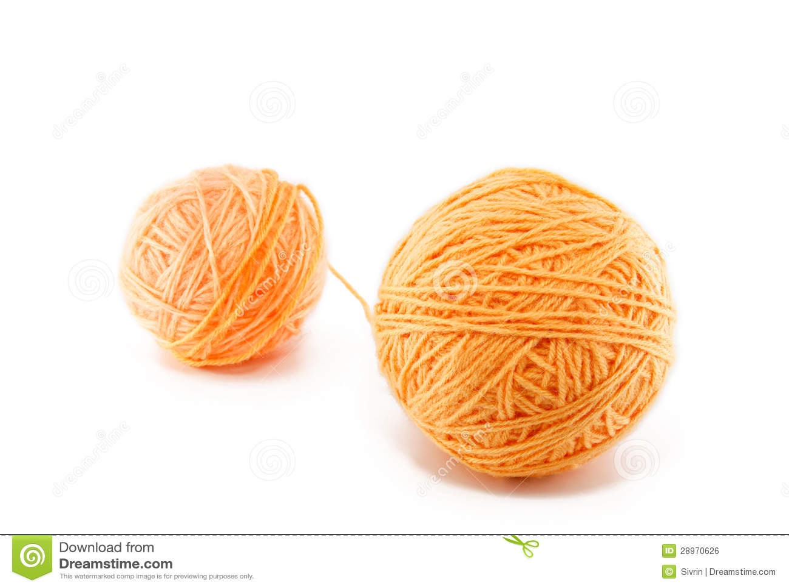 Piłka pomarańczowa przędza