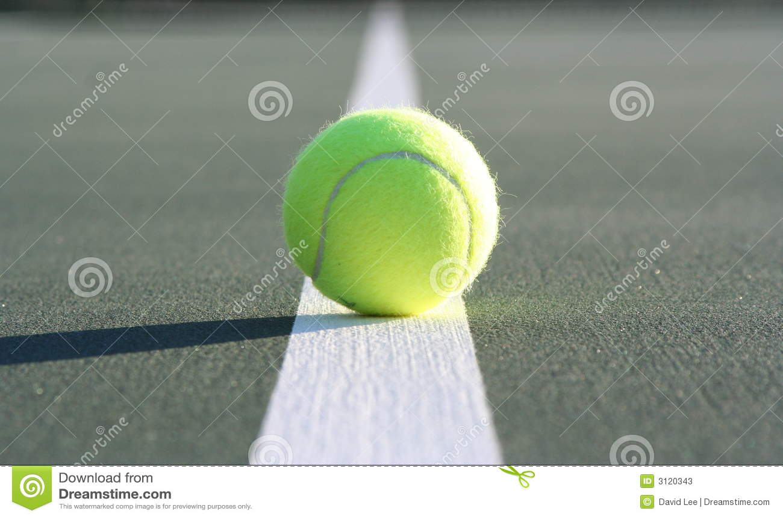 Piłka sądu tenis linii