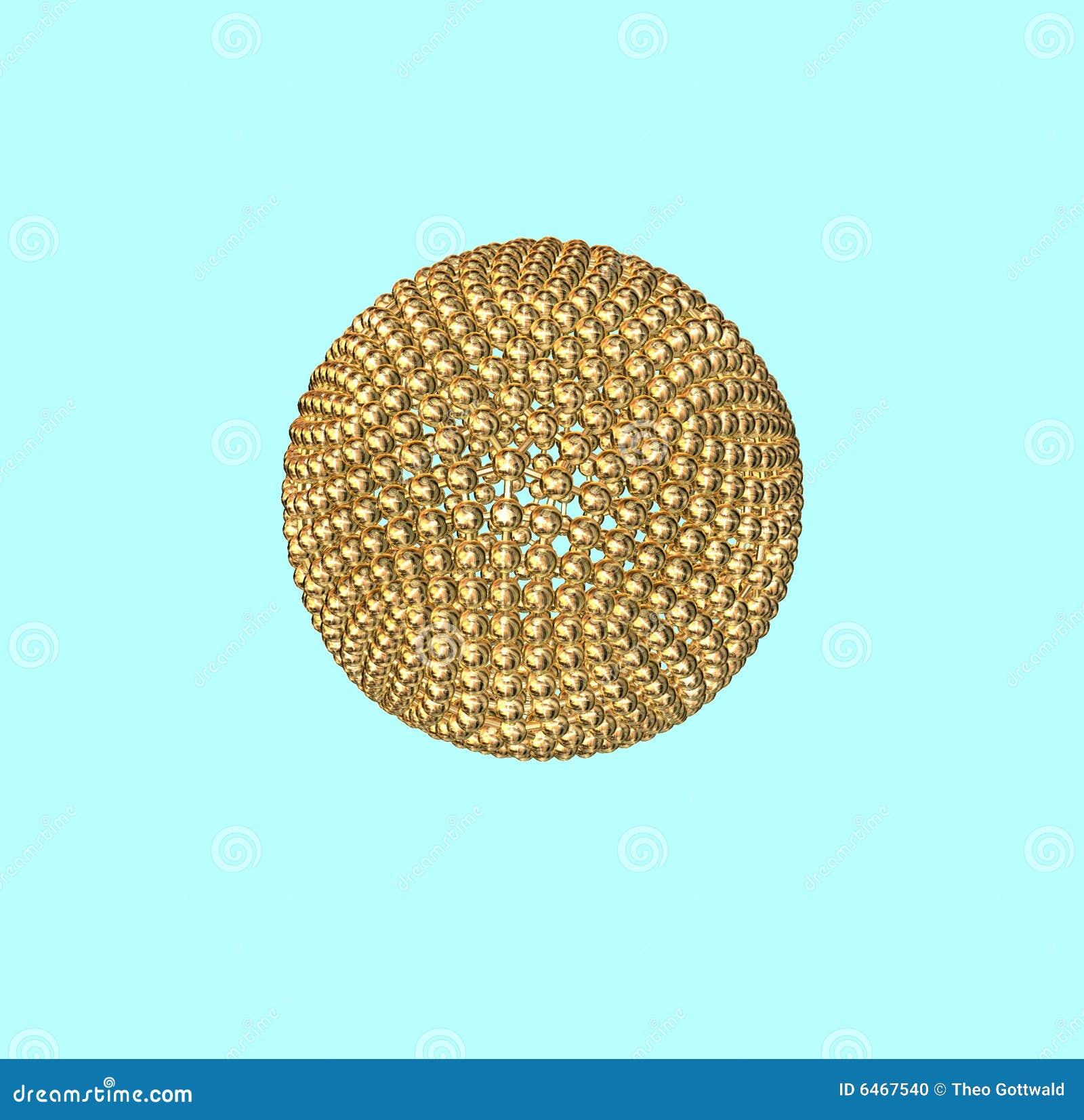 Piłka złota atom.