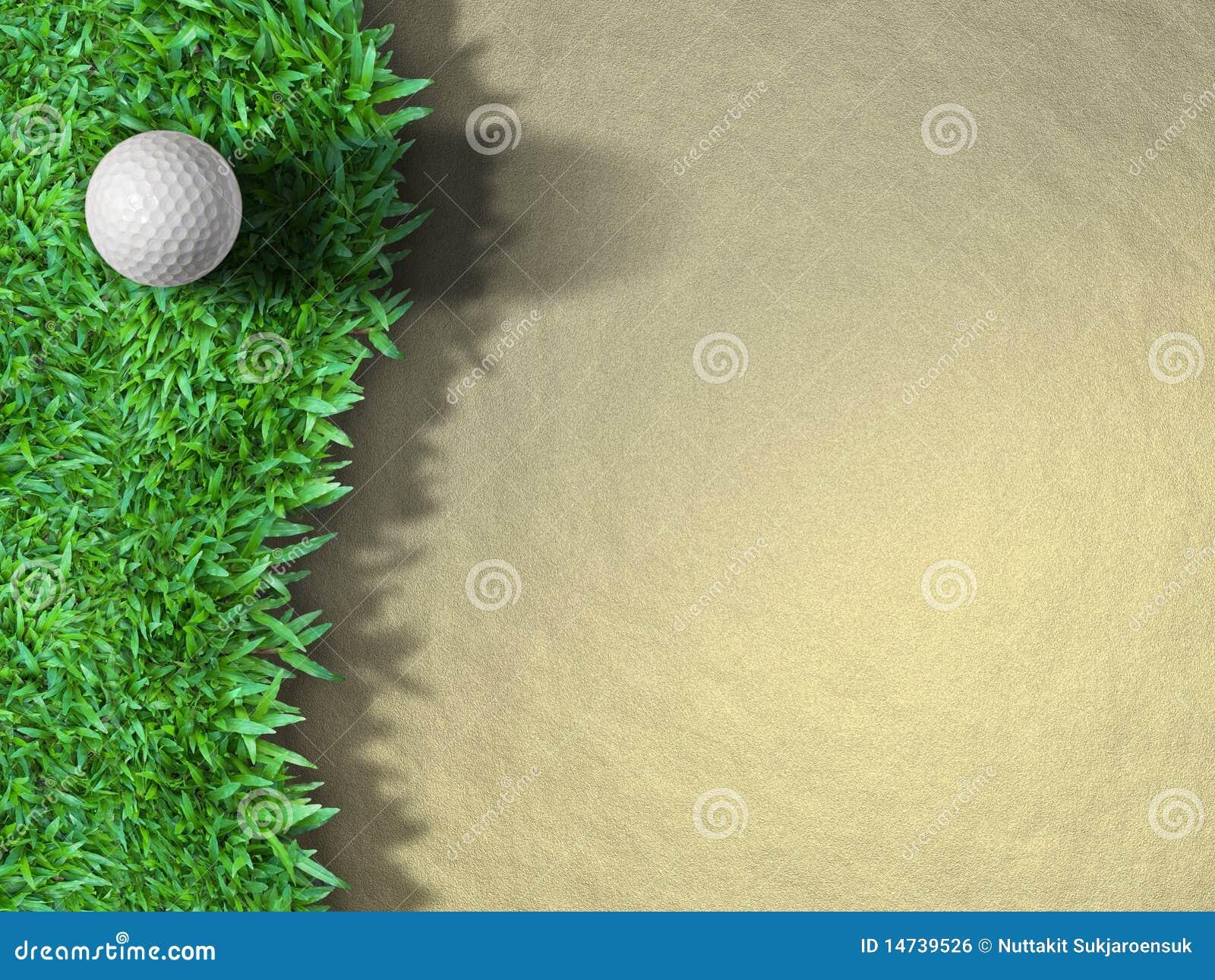 Piłki golfa trawa