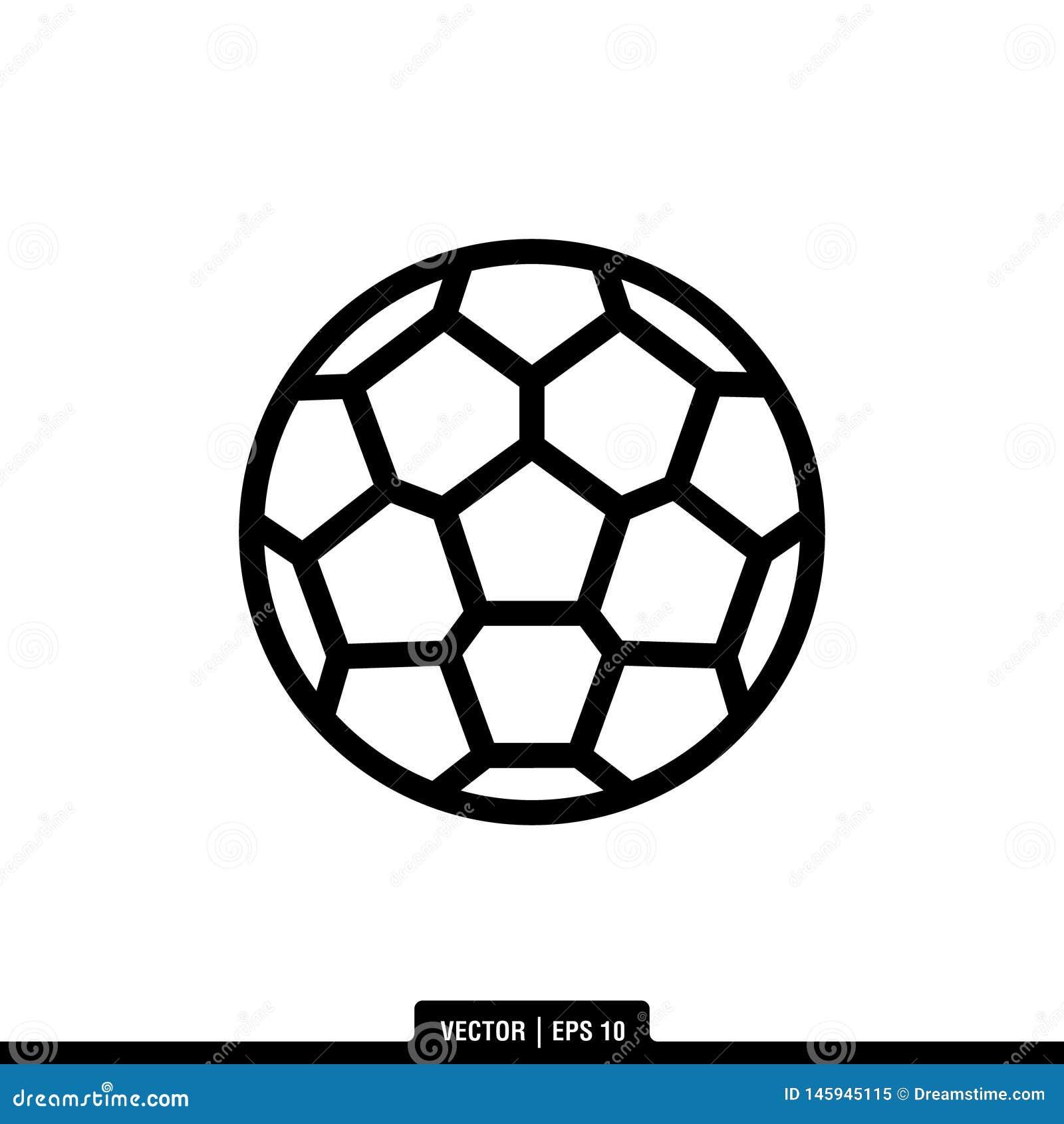 Piłki nożnej piłki ikony logo Wektorowy Ilustracyjny szablon