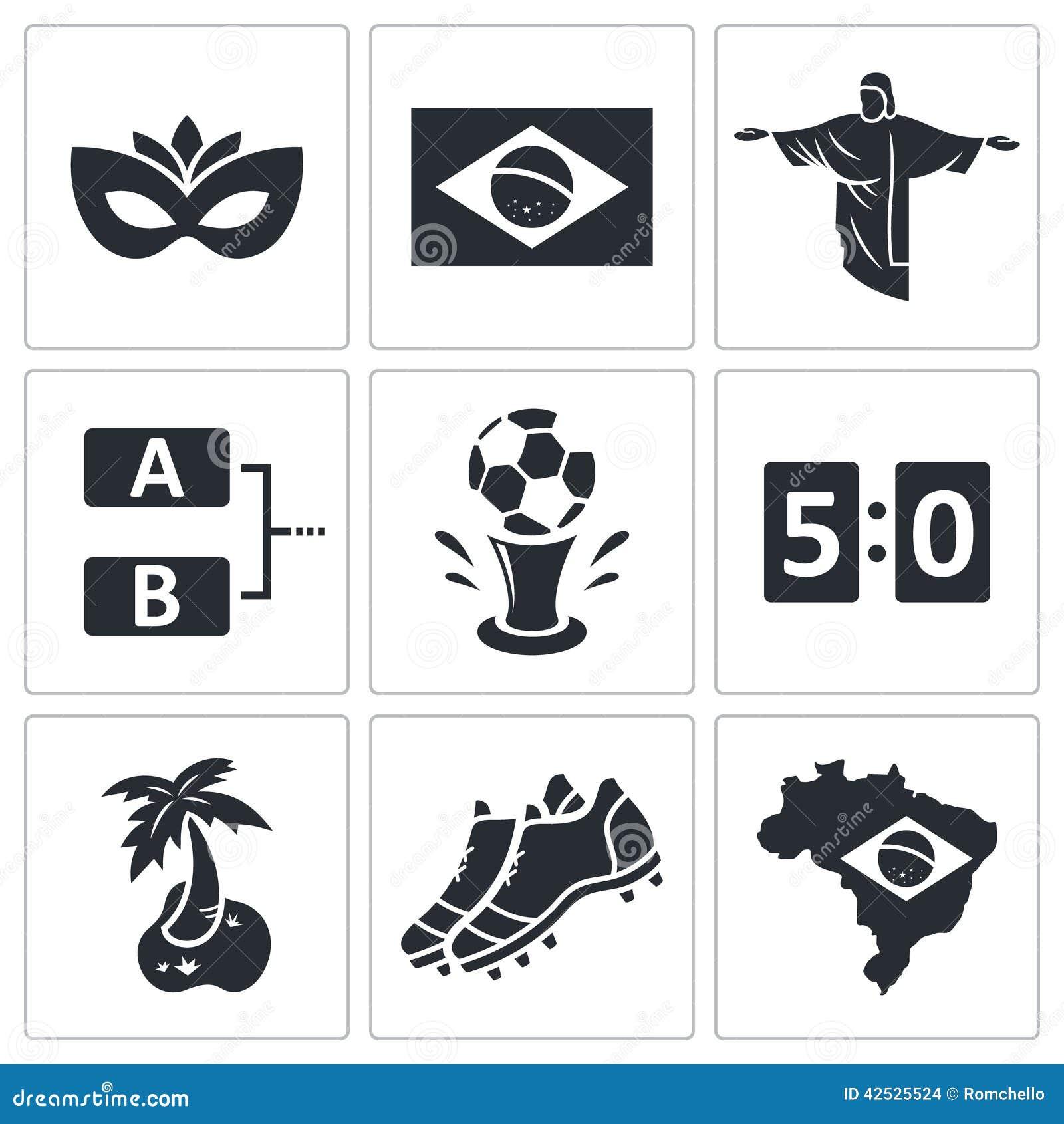 Piłki nożnej ikony wektorowa kolekcja