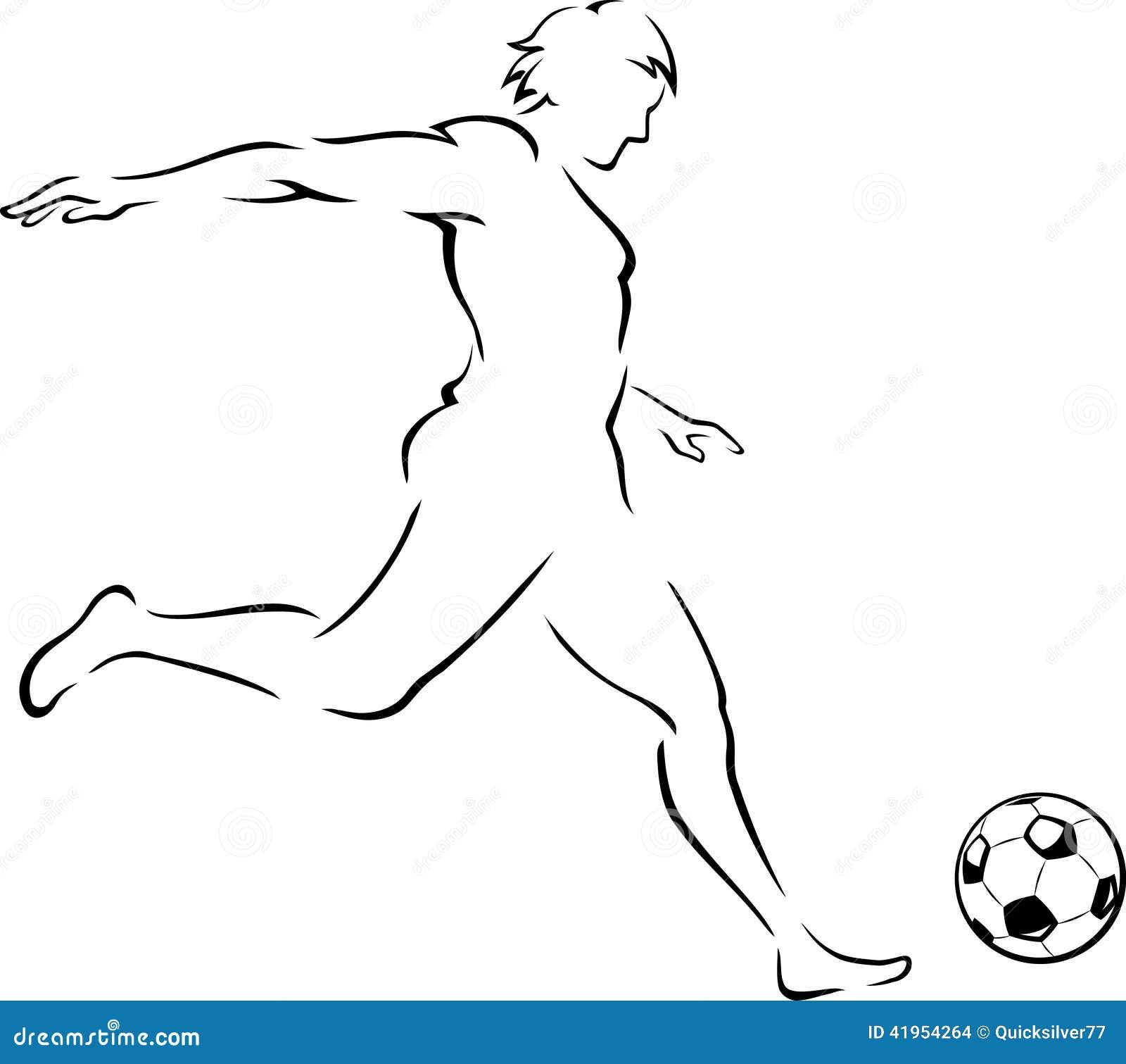 Piłki nożnej kopnięcia Kreskowa sztuka