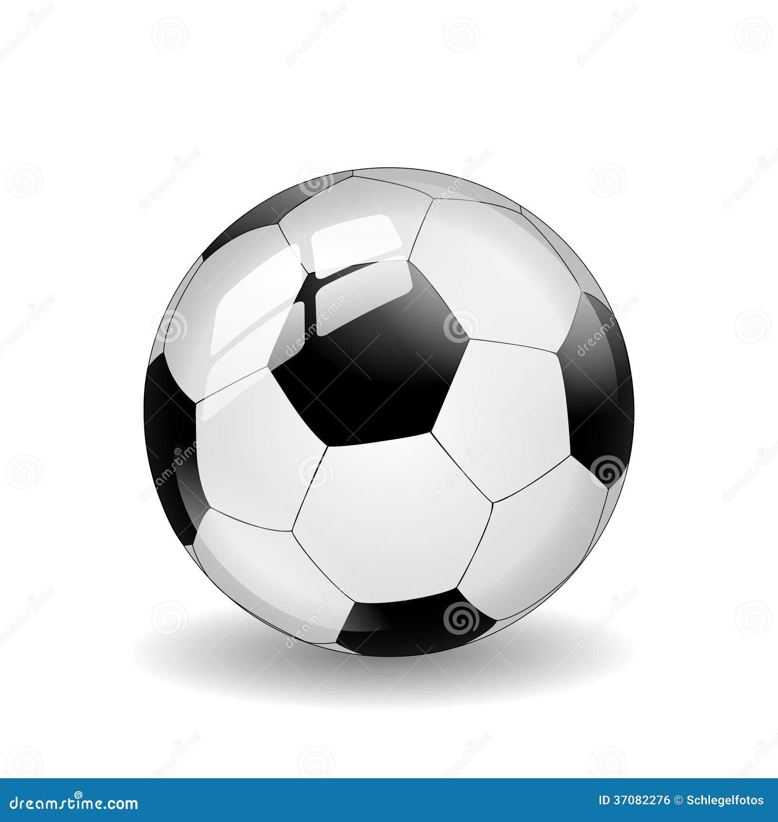 Download Piłki Nożnej Piłka Odizolowywająca Ilustracji - Ilustracja złożonej z skóra, soccer: 37082276