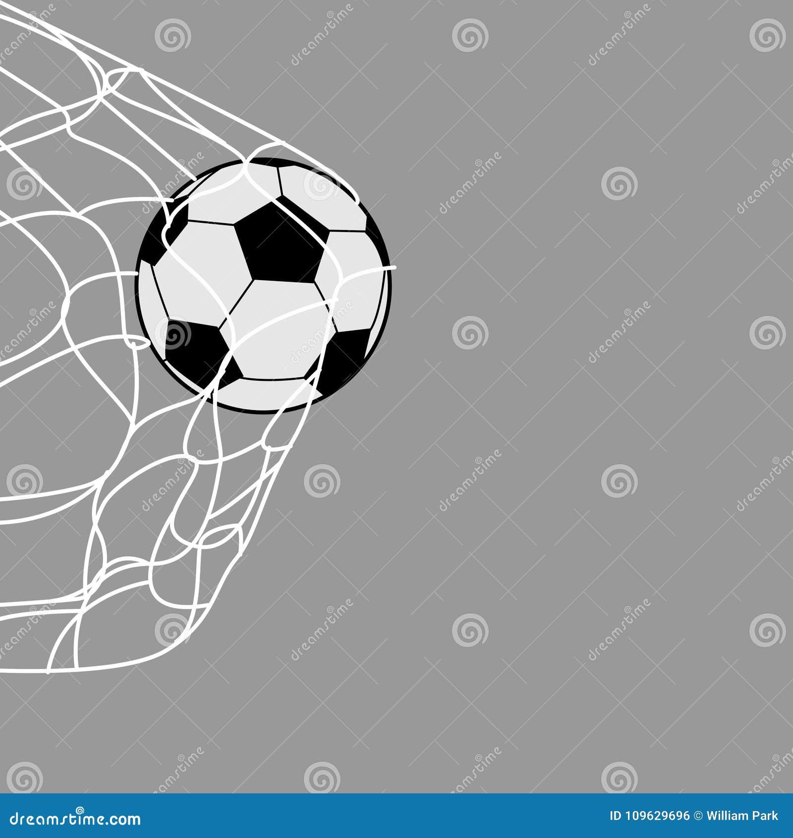 Piłki nożnej piłka z tyłu sieci