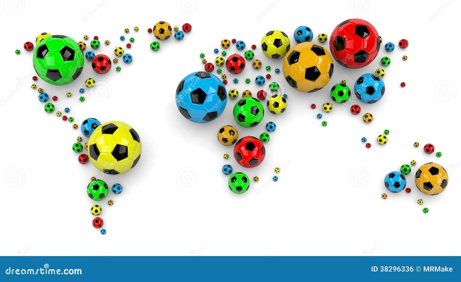 Piłki nożnej piłki Światowa mapa