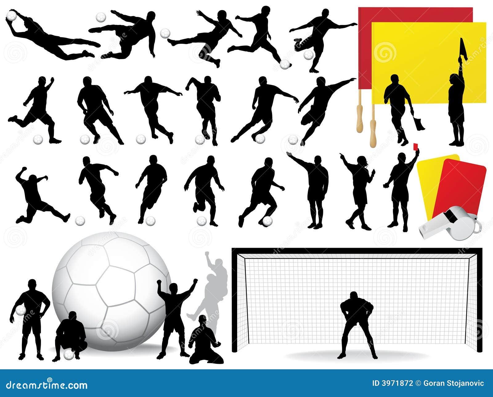 Piłki nożnej sylwetki wektora
