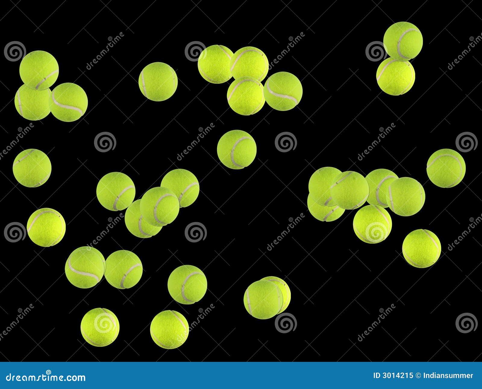 Piłki tenisowe tło