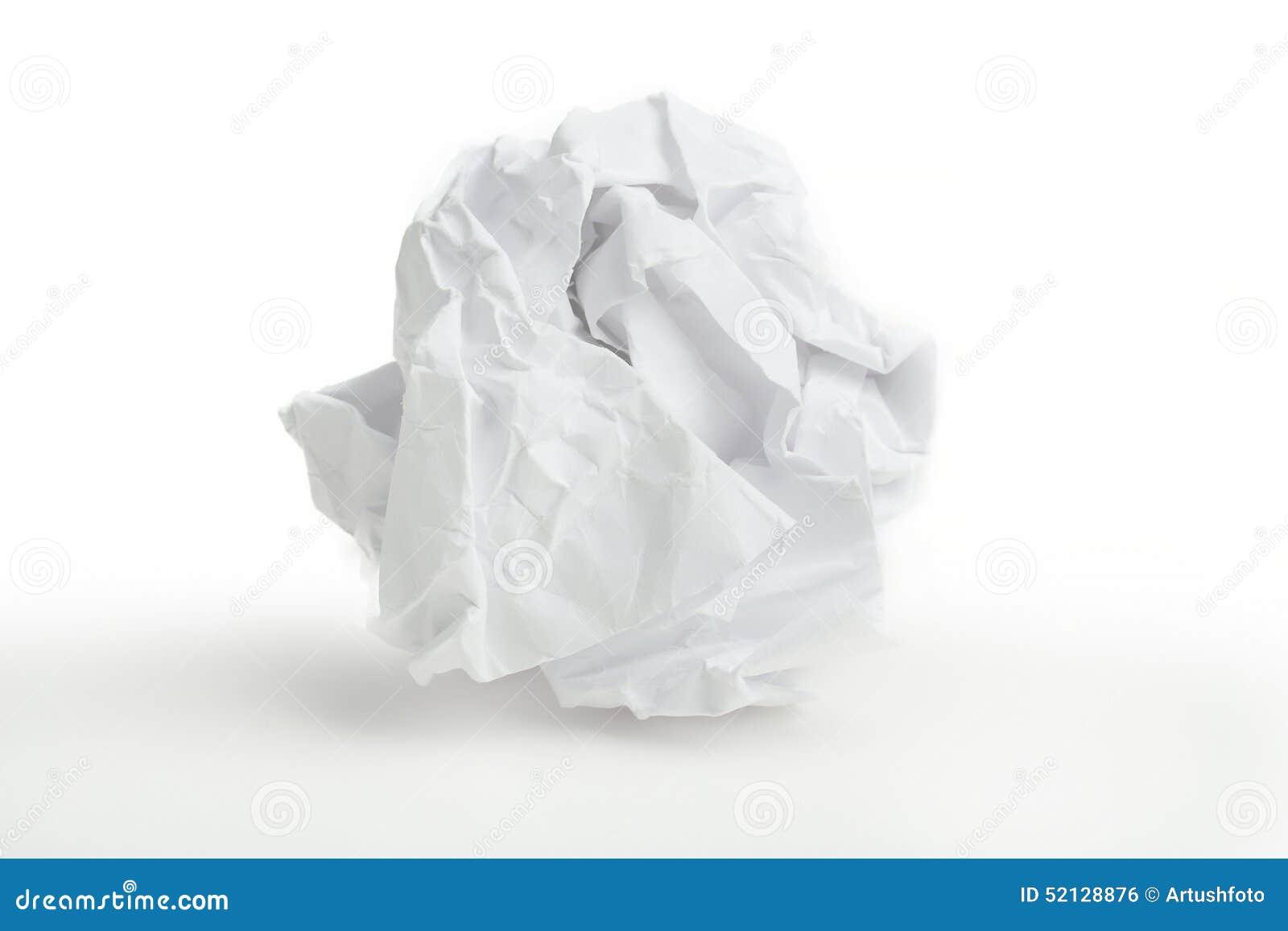 Piłki zakończenie miący papier miąć