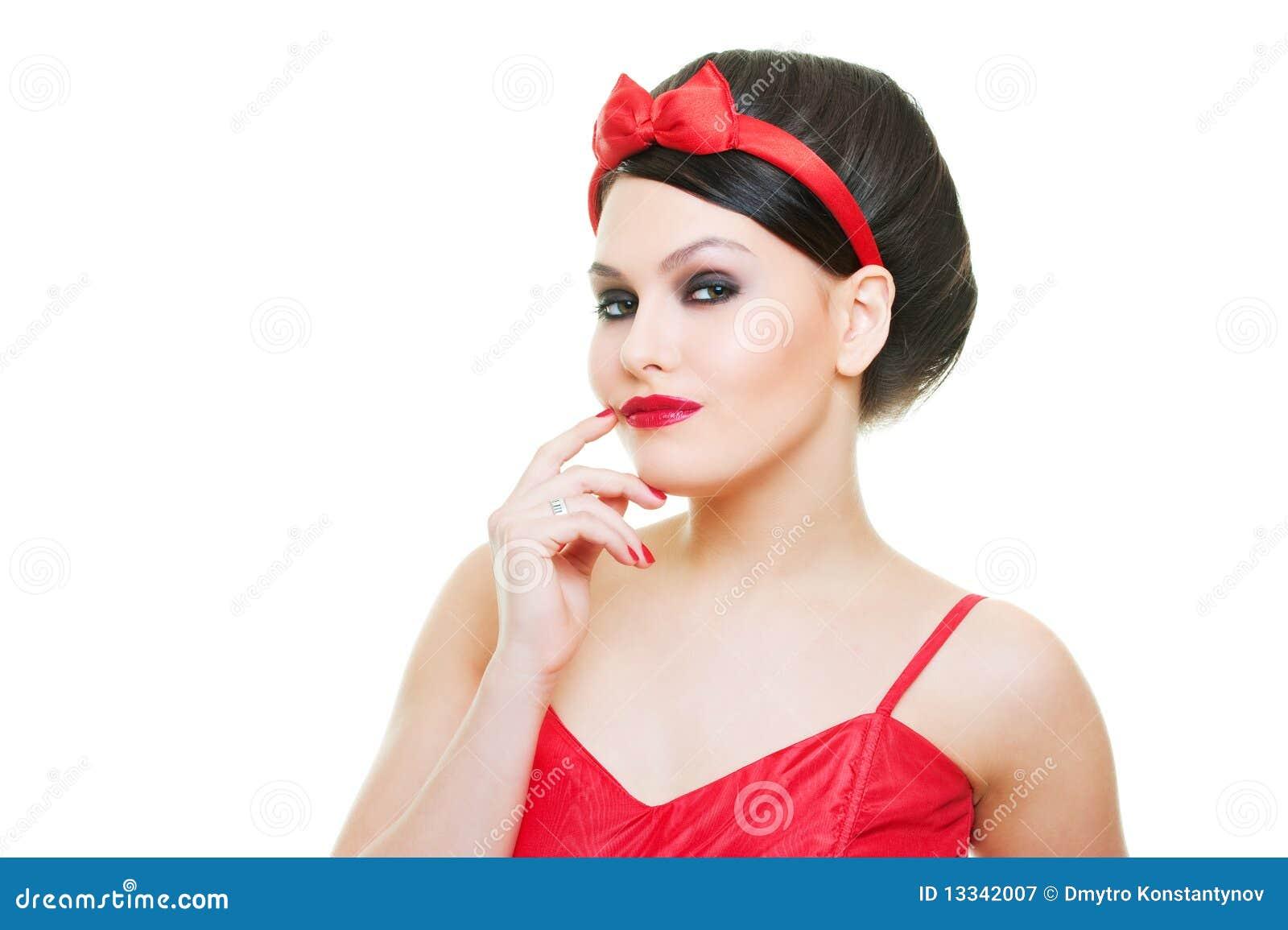 Pięknego portreta seksowna kobieta