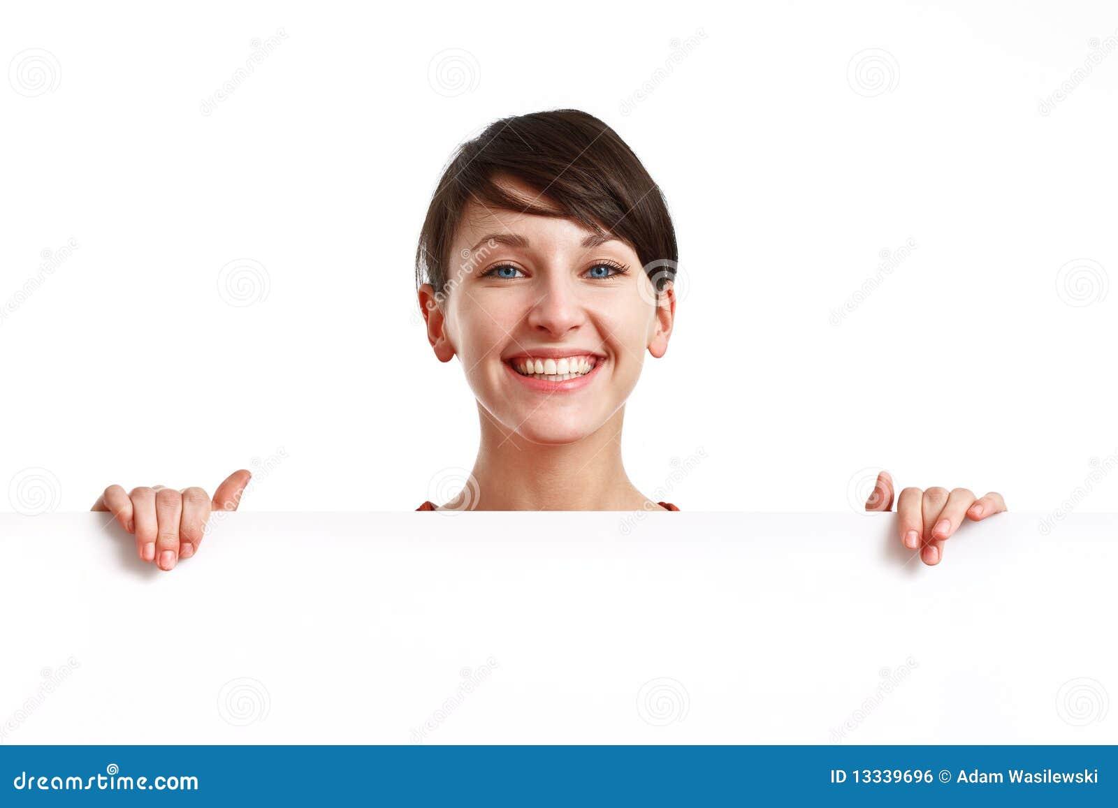 Pięknej deski pusty dziewczyny mienia biel