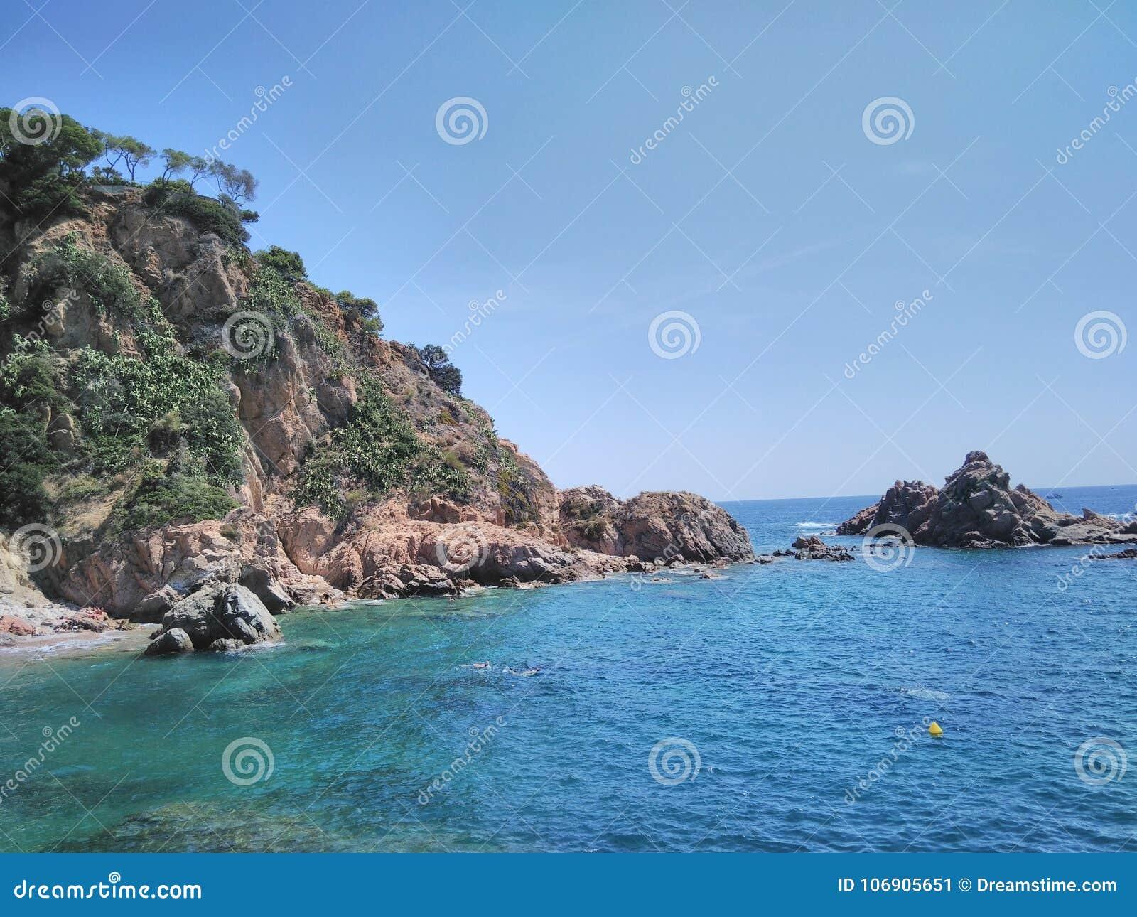 Piękny morze krajobraz w Catalonia
