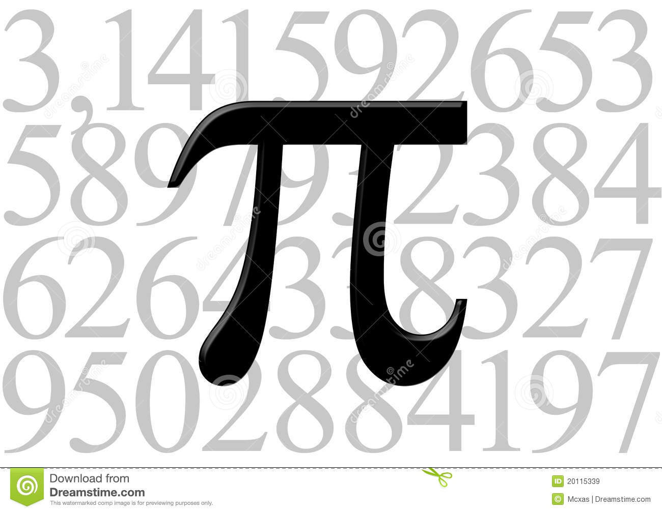 pi letter on number value royalty free stock images image 20115339