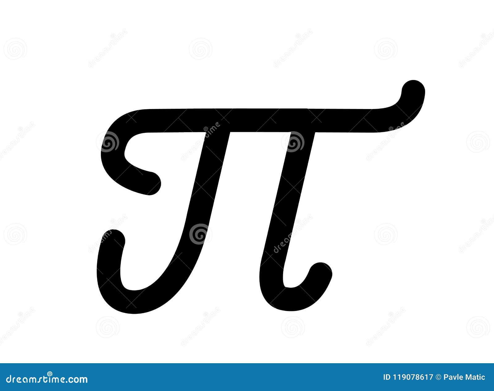 Pi Mathematical Number Symbol Stock Vector Illustration Of Symbol